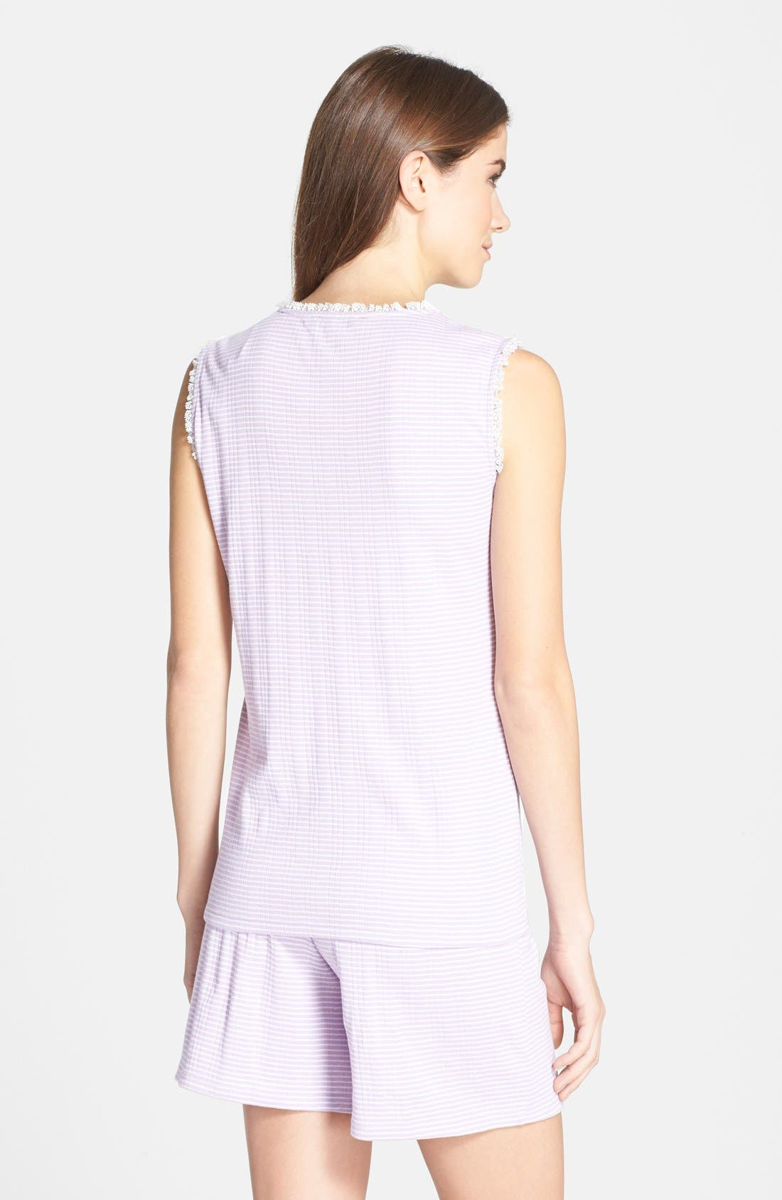 Alternate Image 2  - Lauren Ralph Lauren Knit Boxer Pajamas