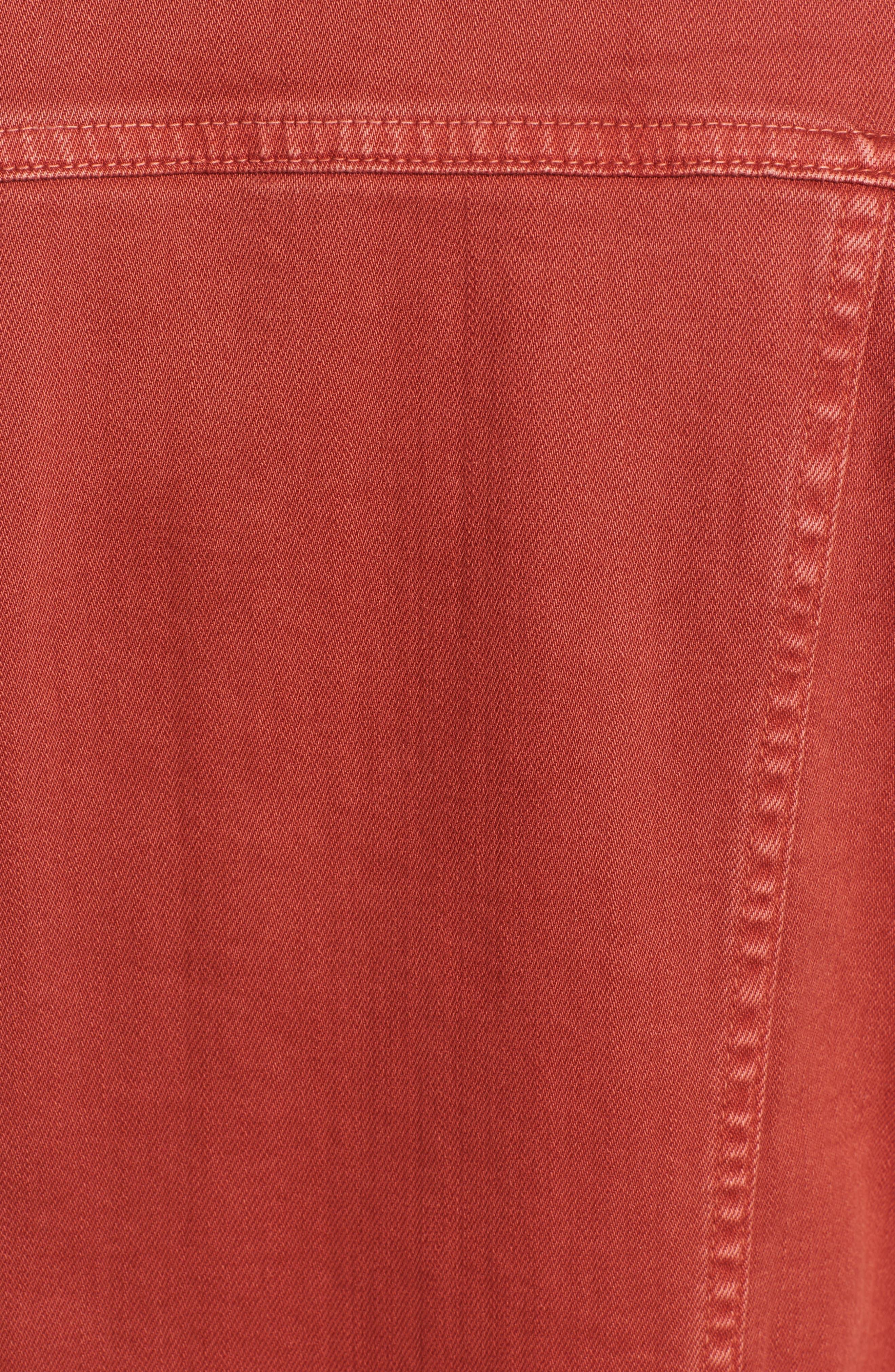 Mya Denim Jacket,                             Alternate thumbnail 6, color,                             10 Years Remedy Firebrick