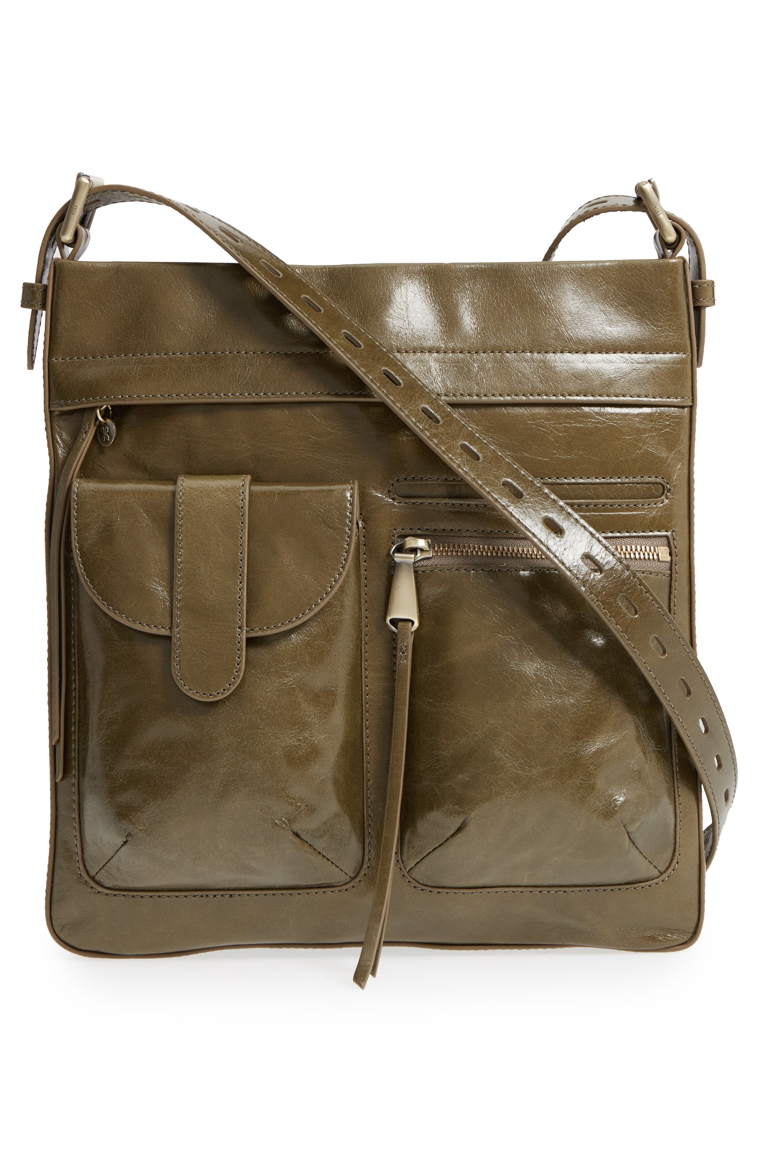 Crusade Leather Crossbody Bag,                             Main thumbnail 1, color,                             Willow