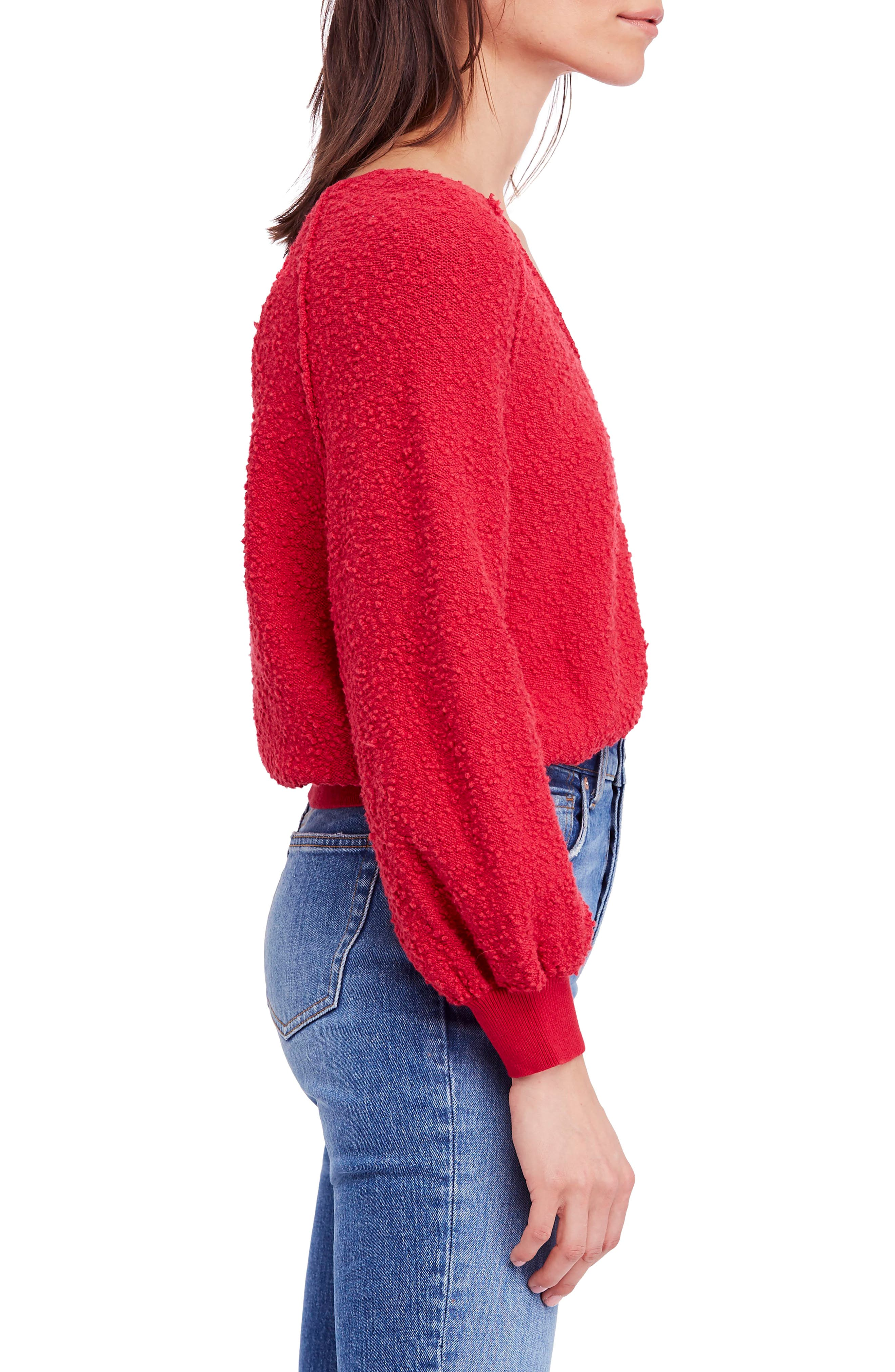 Found My Friend Sweater,                             Alternate thumbnail 3, color,                             Red
