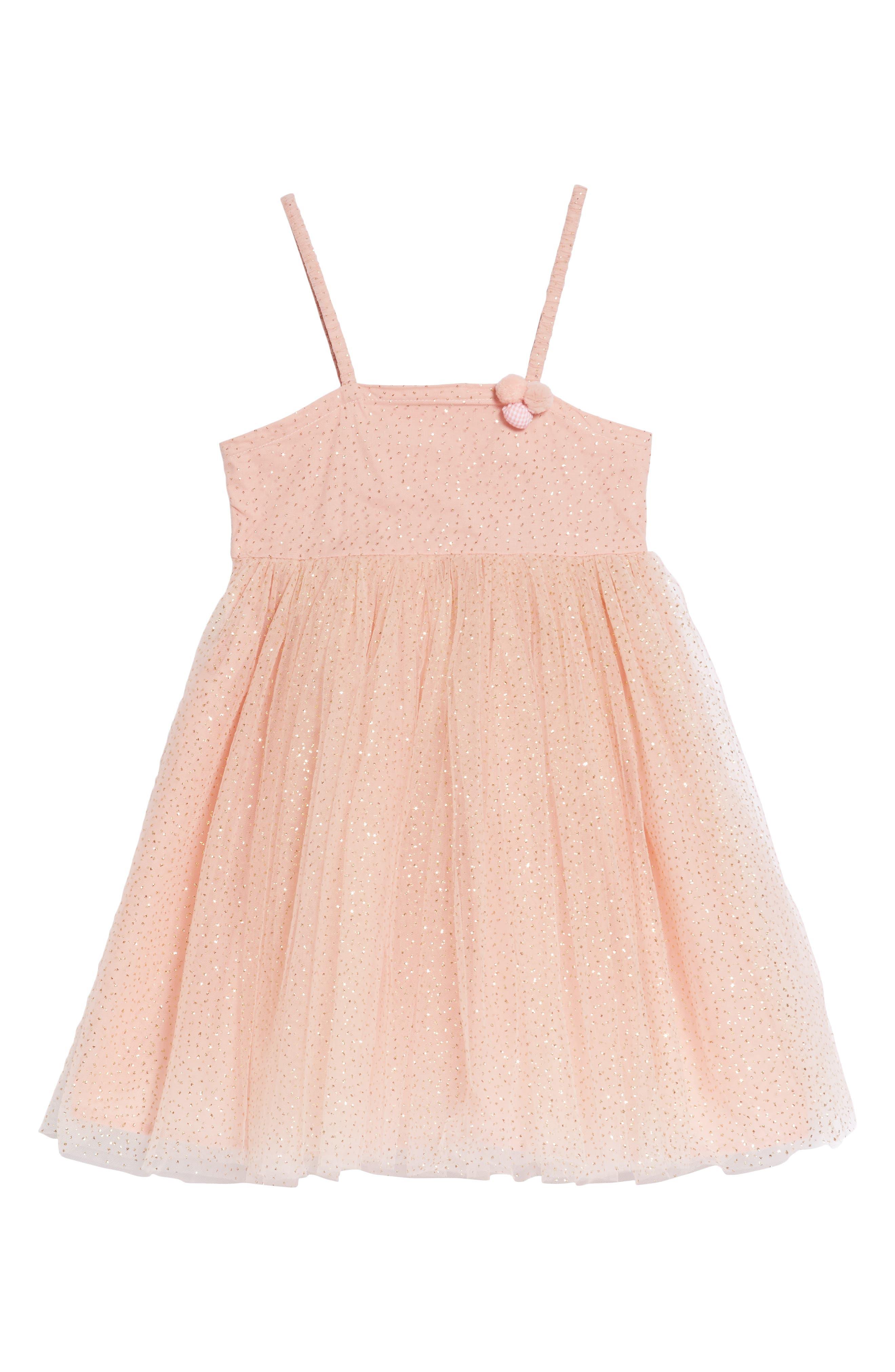 Doe A Dear Glitter Dotted Tulle Empire Dress (Toddler Girls, Little Girls & Big Girls)