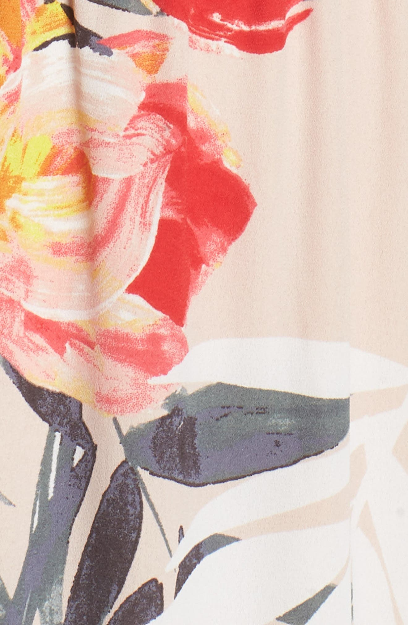 Tropical Breeze Print Maxi Dress,                             Alternate thumbnail 6, color,                             Geranium Multi
