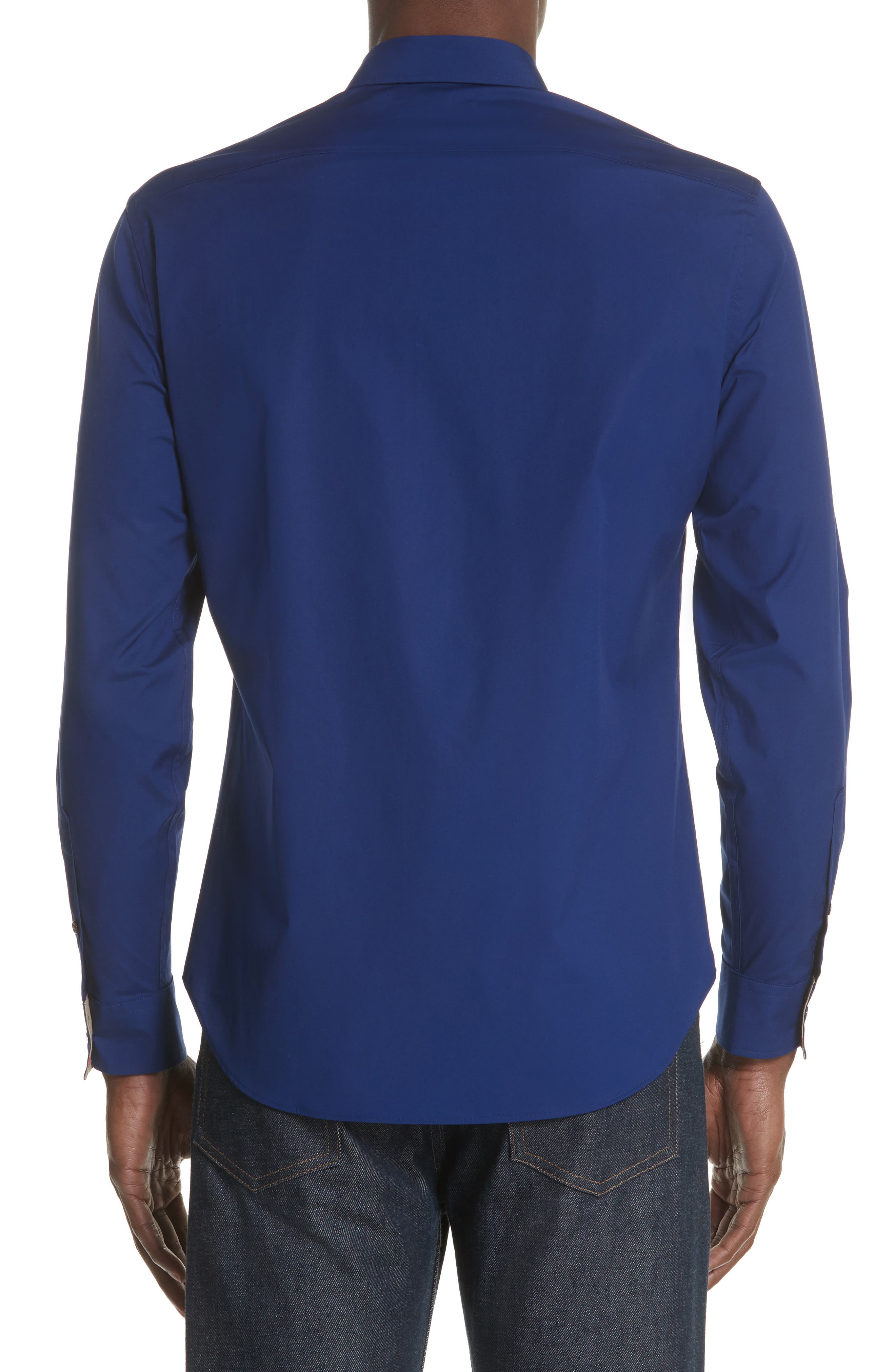 Cambridge Aboyd Sport Shirt,                             Alternate thumbnail 3, color,                             Bright Navy