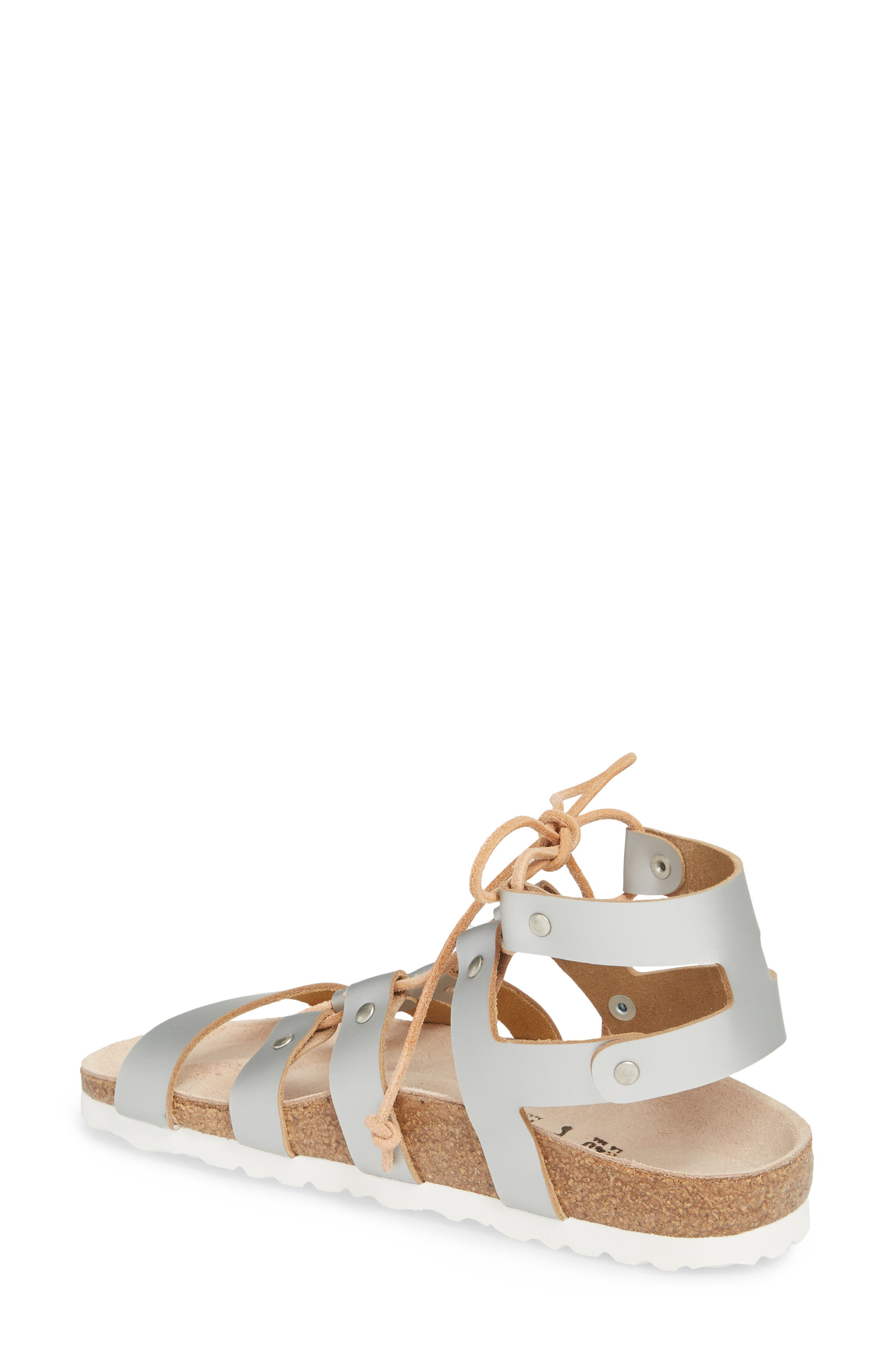 Papillio by Birkenstock Cleo Gladiator Sandal,                             Alternate thumbnail 2, color,                             Frosted Silver Leather