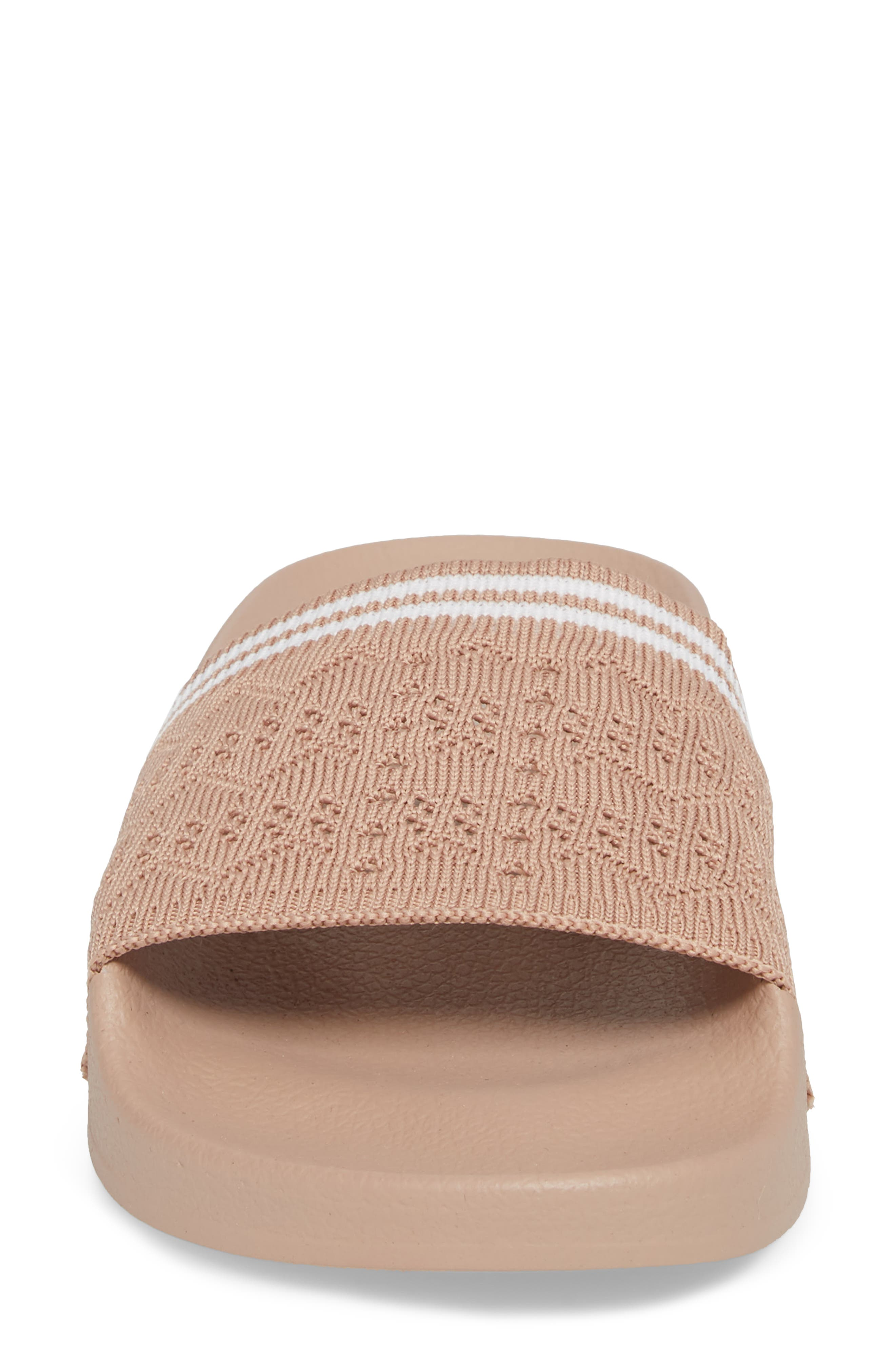 Vibe Sock Knit Slide Sandal,                             Alternate thumbnail 4, color,                             Blush
