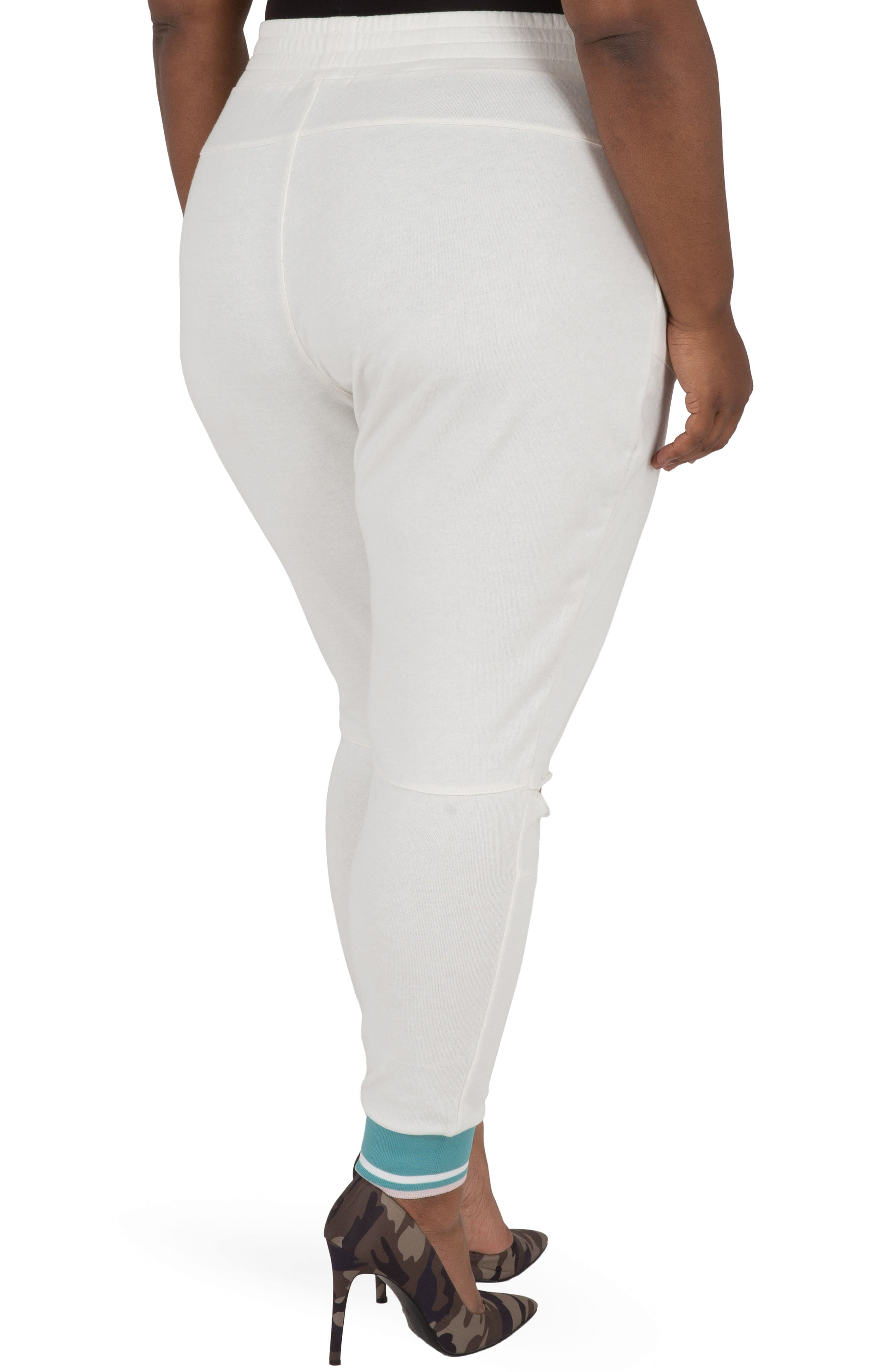 Akira Ankle Jogger Pants,                             Alternate thumbnail 2, color,                             Quartz White