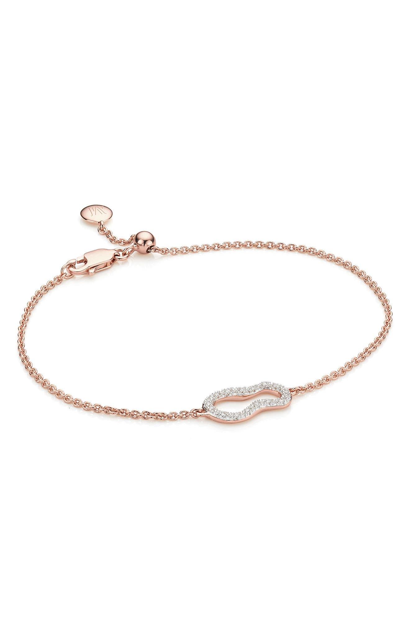 Riva Diamond Bracelet,                             Main thumbnail 1, color,                             Rose Gold/ Diamond