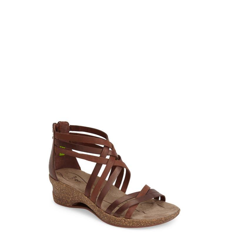 Ahnu Trolley Leather Wedge Sandal Women Nordstrom