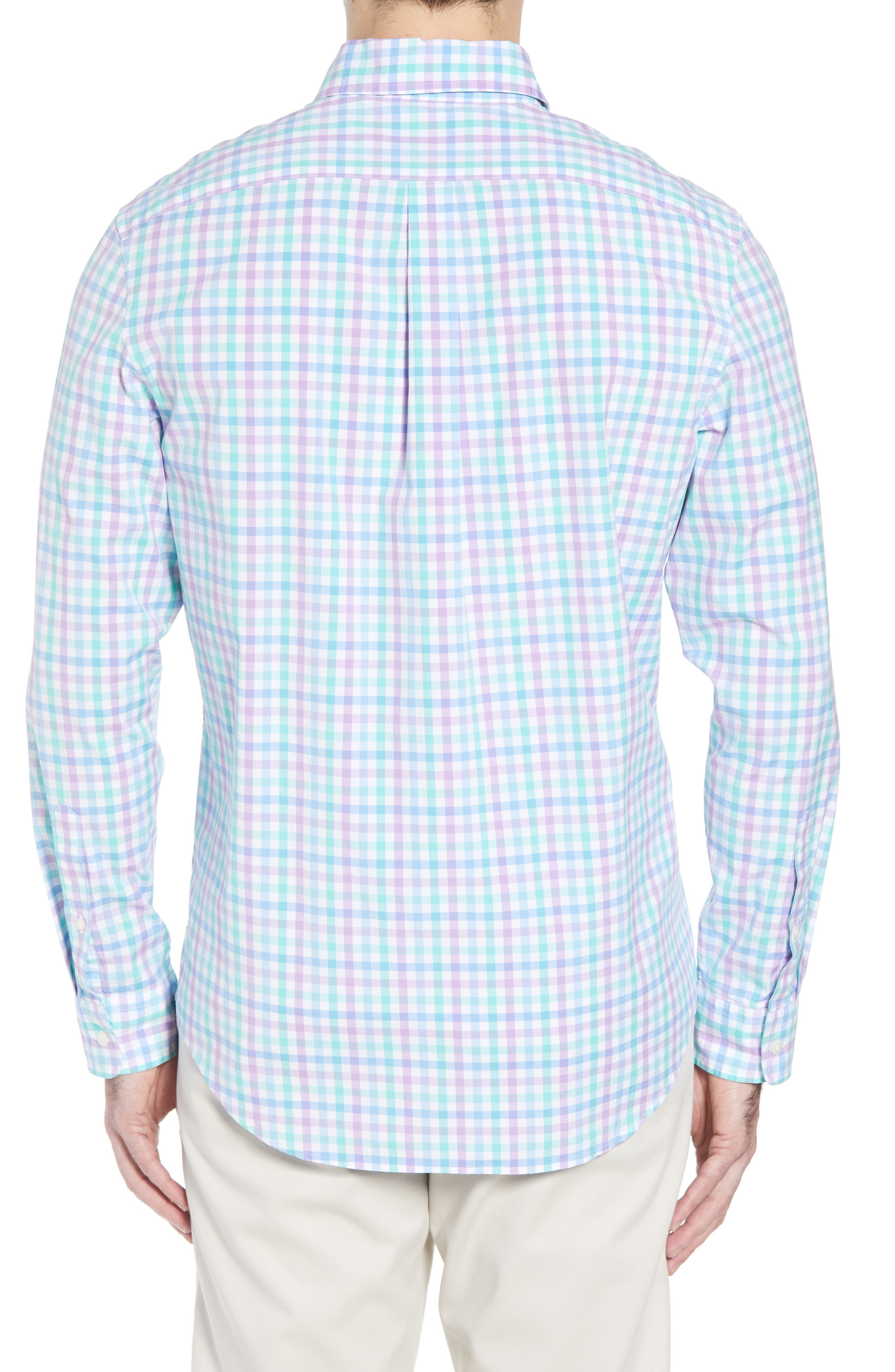 Murray Classic Fit Stretch Check Sport Shirt,                             Alternate thumbnail 3, color,                             Sea Urchin