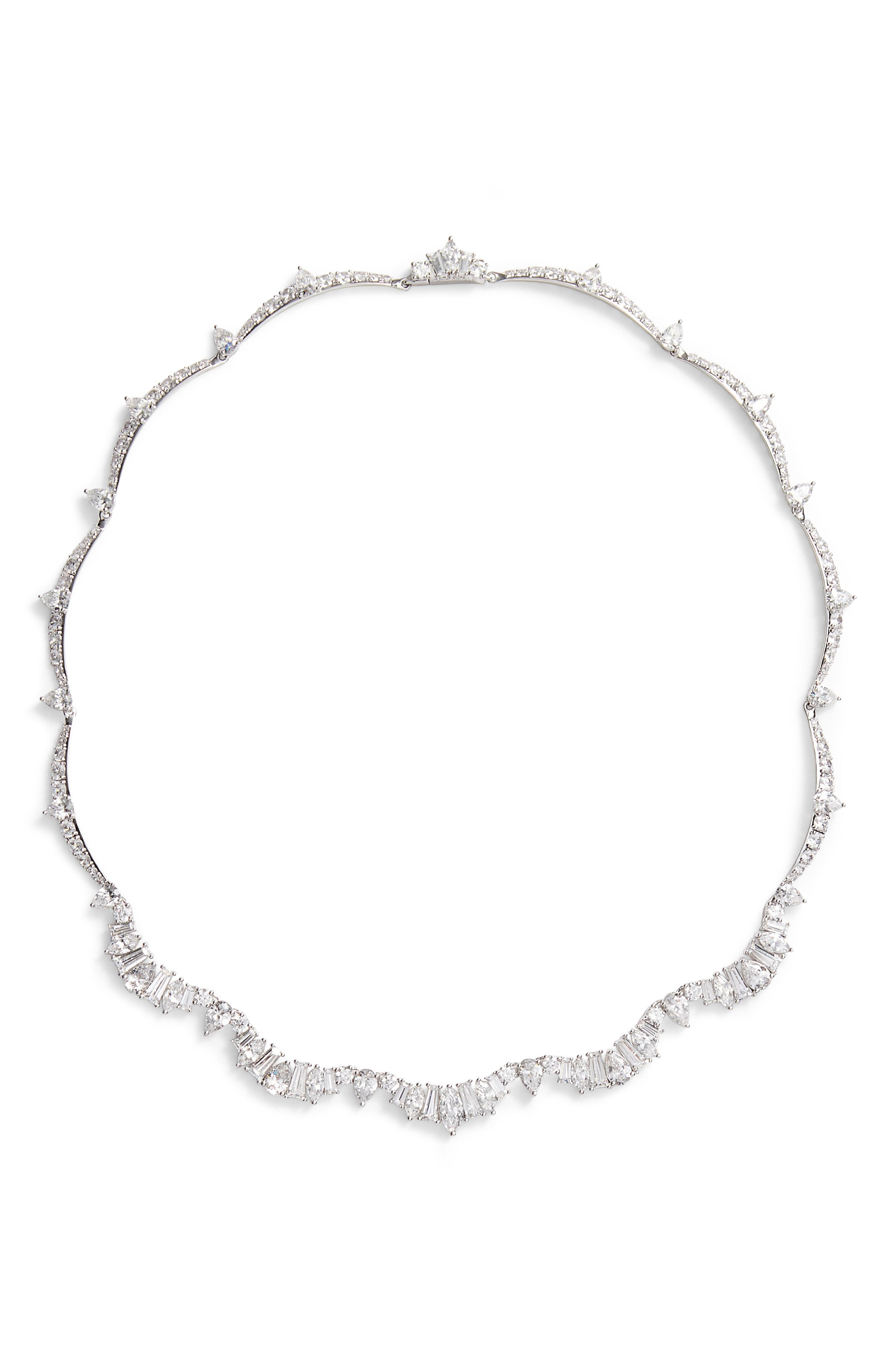 Fanfare All-Around Necklace,                         Main,                         color, Silver