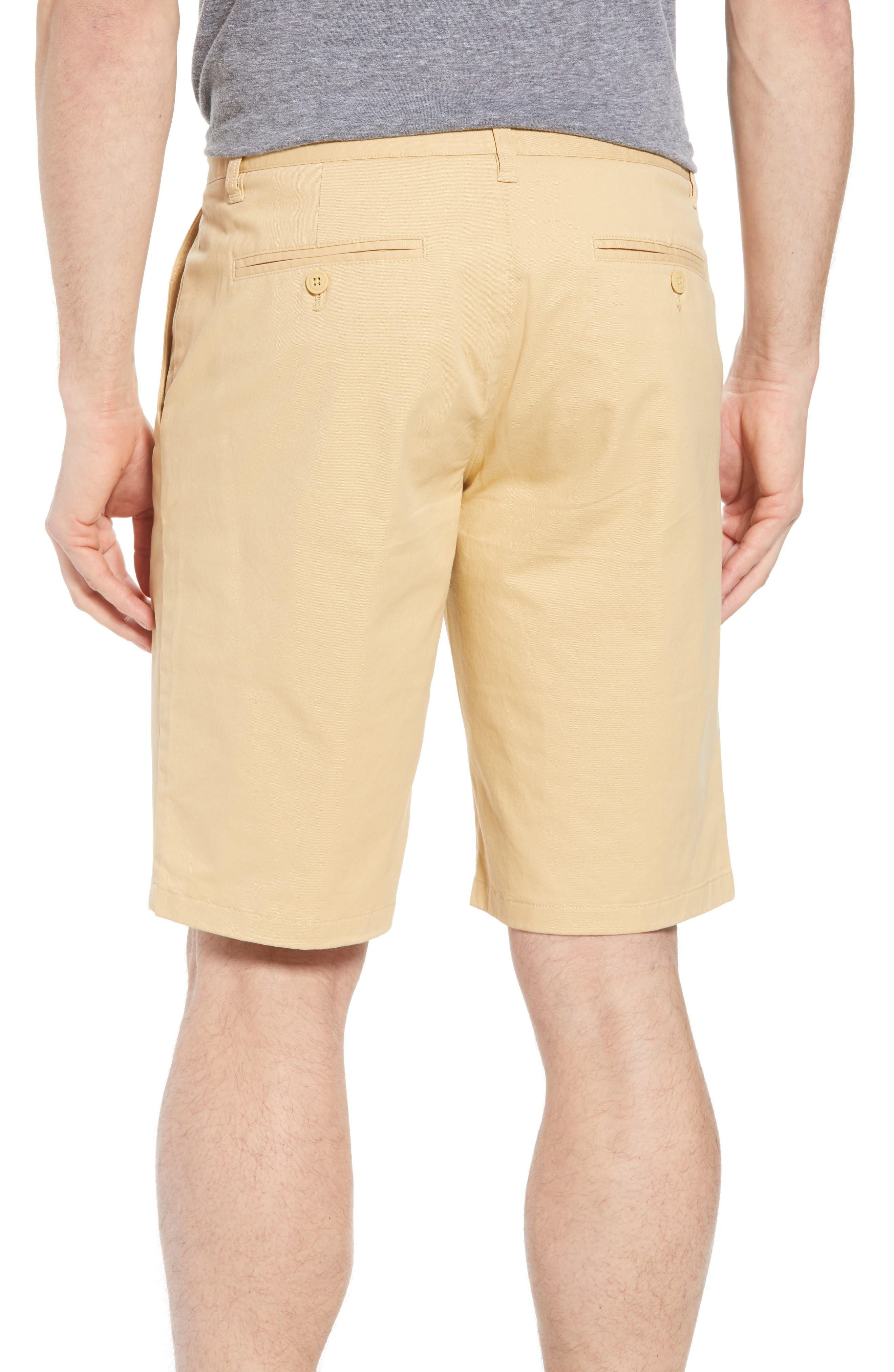 Stretch Washed Chino 11-Inch Shorts,                             Alternate thumbnail 2, color,                             Gold Khaki
