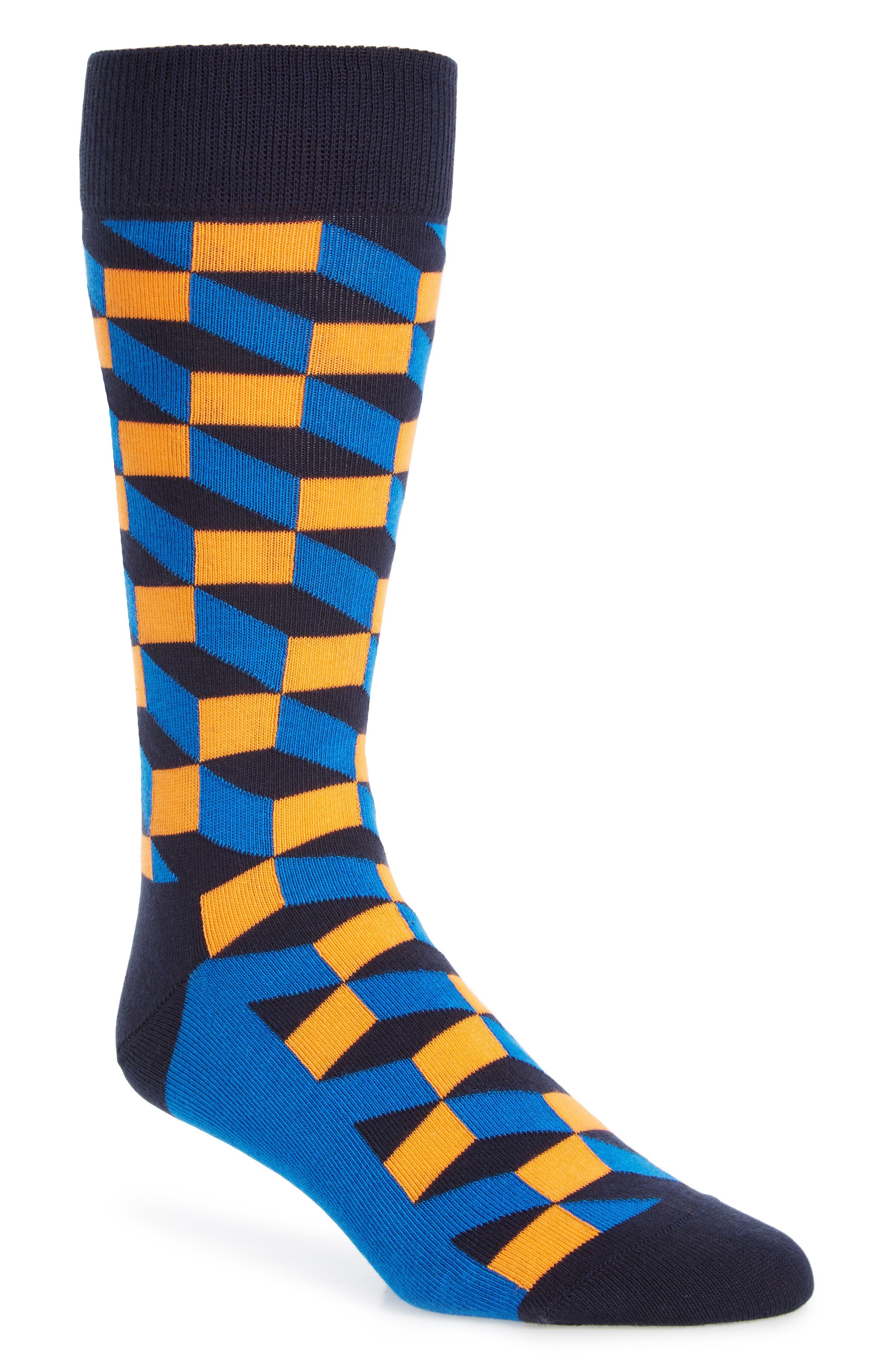 Optic Socks,                             Main thumbnail 1, color,                             Black Multi