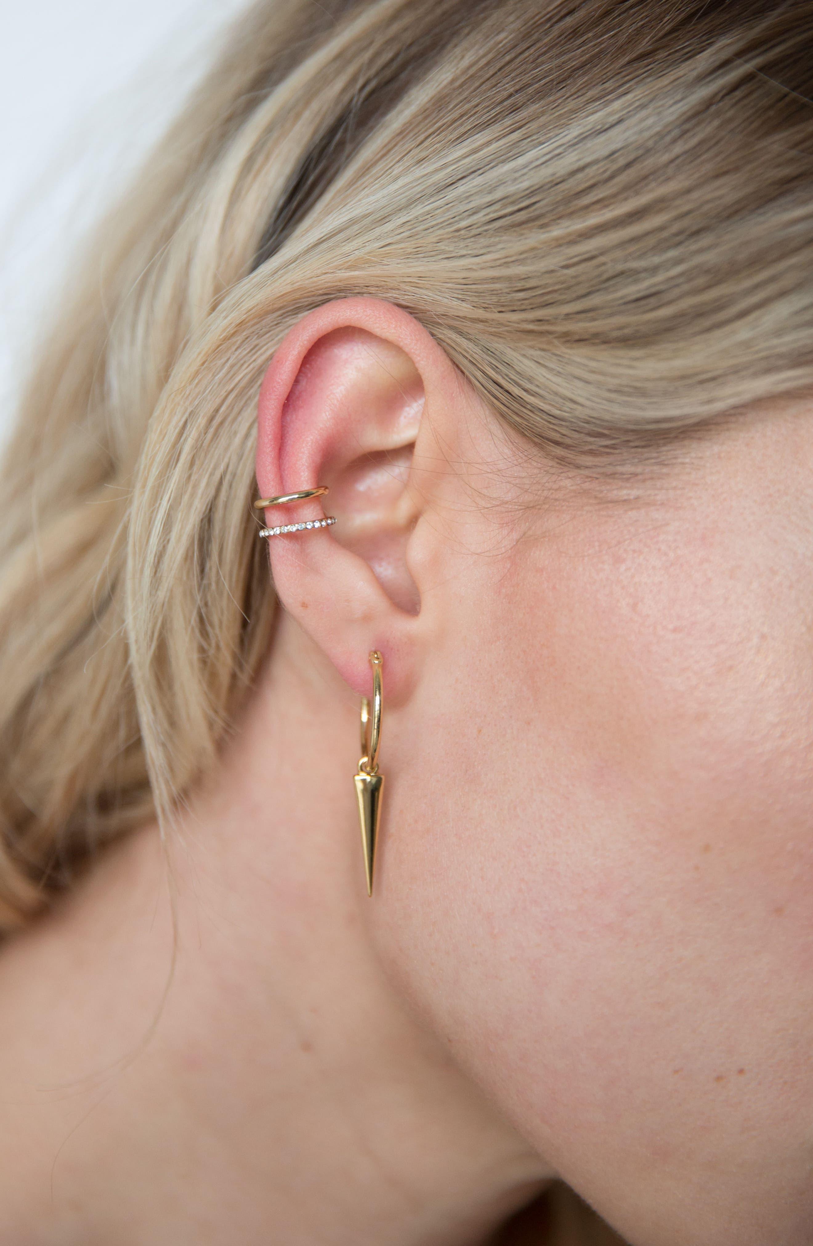 Sharp Shooter Earrings,                             Alternate thumbnail 2, color,                             Gold