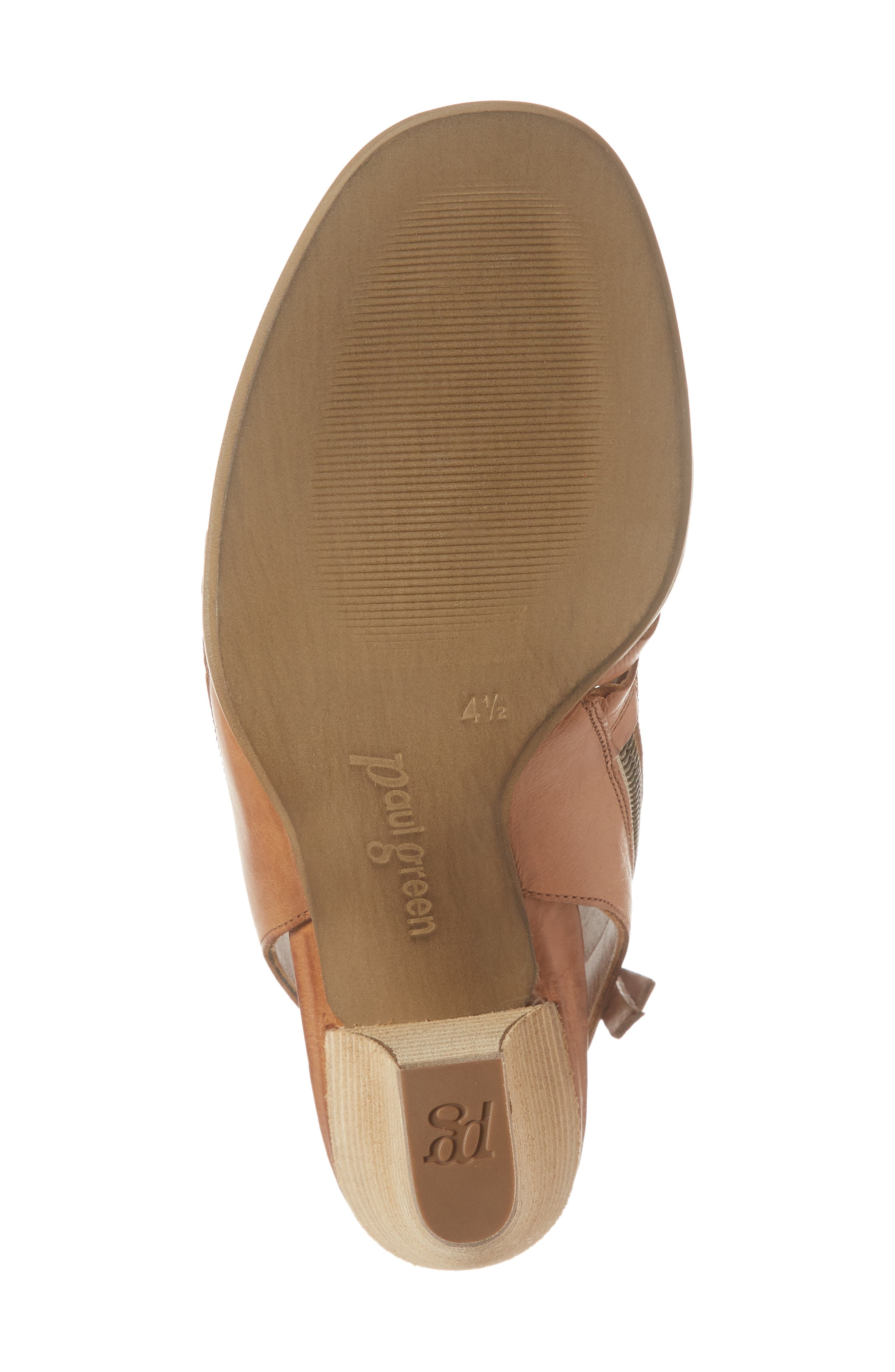 Rosa Woven Peep Toe Sandal,                             Alternate thumbnail 6, color,                             Cuoio Leather