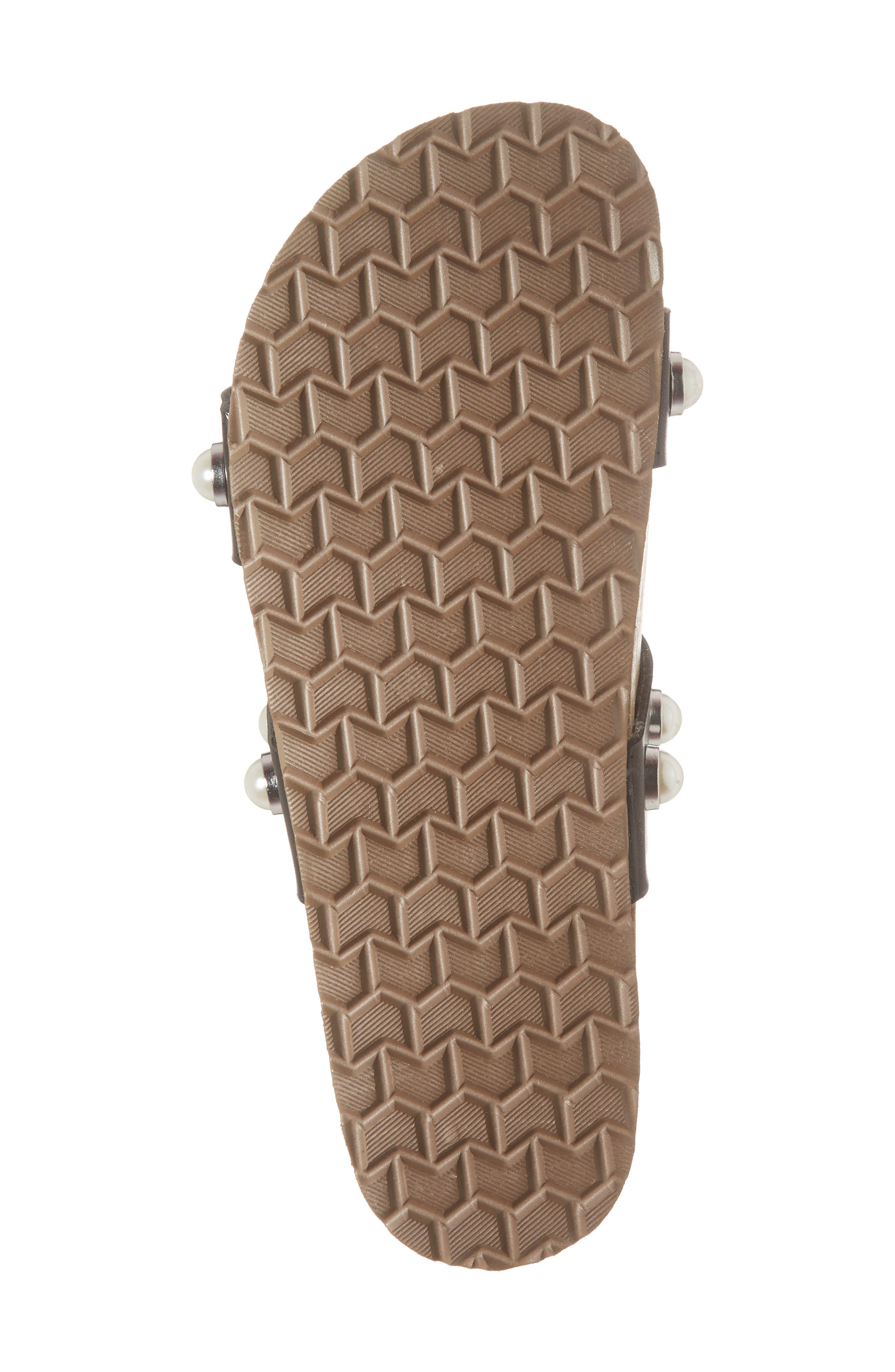 Asset Embellished Slide Sandal,                             Alternate thumbnail 6, color,                             Black