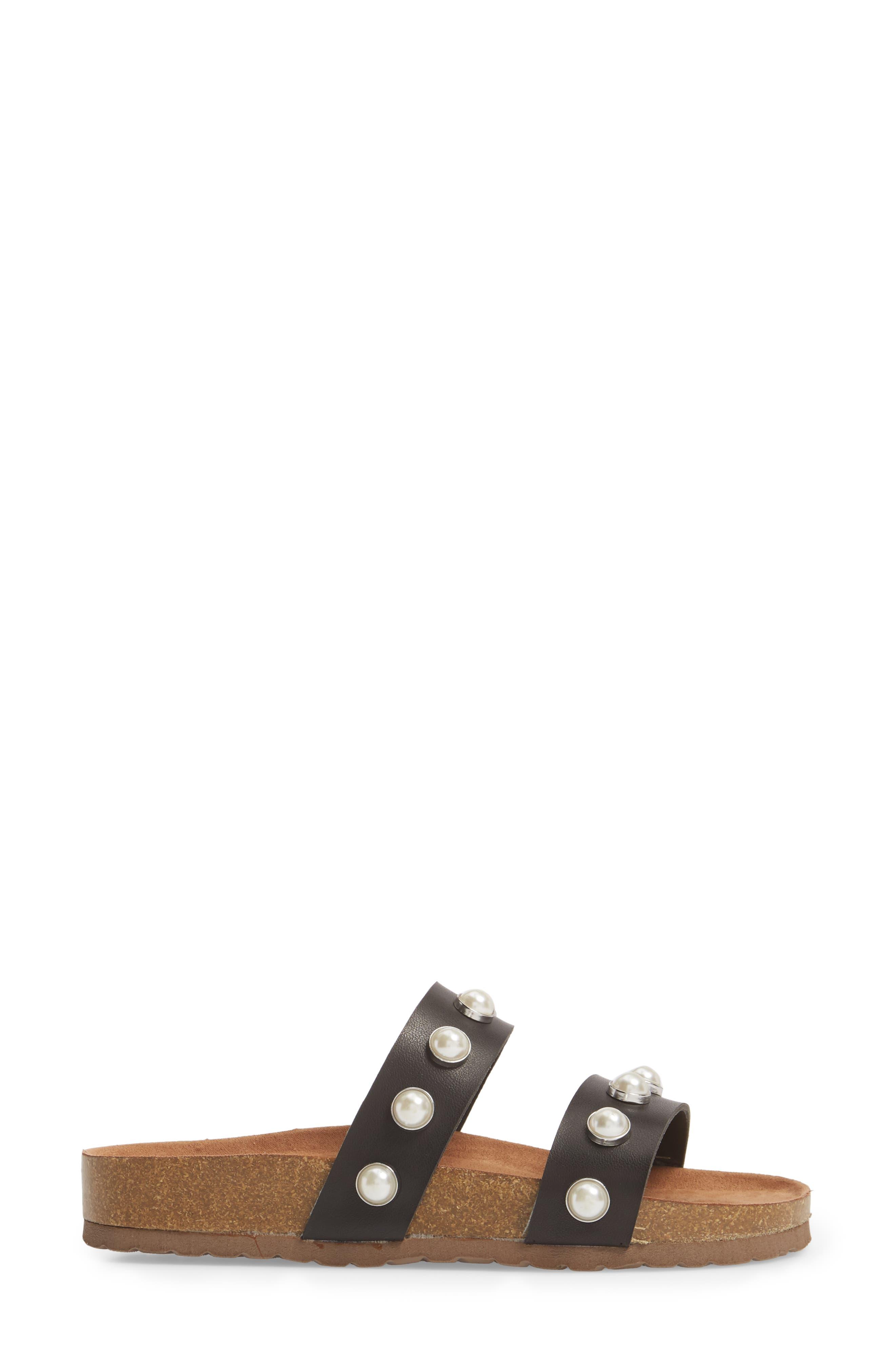 Asset Embellished Slide Sandal,                             Alternate thumbnail 3, color,                             Black