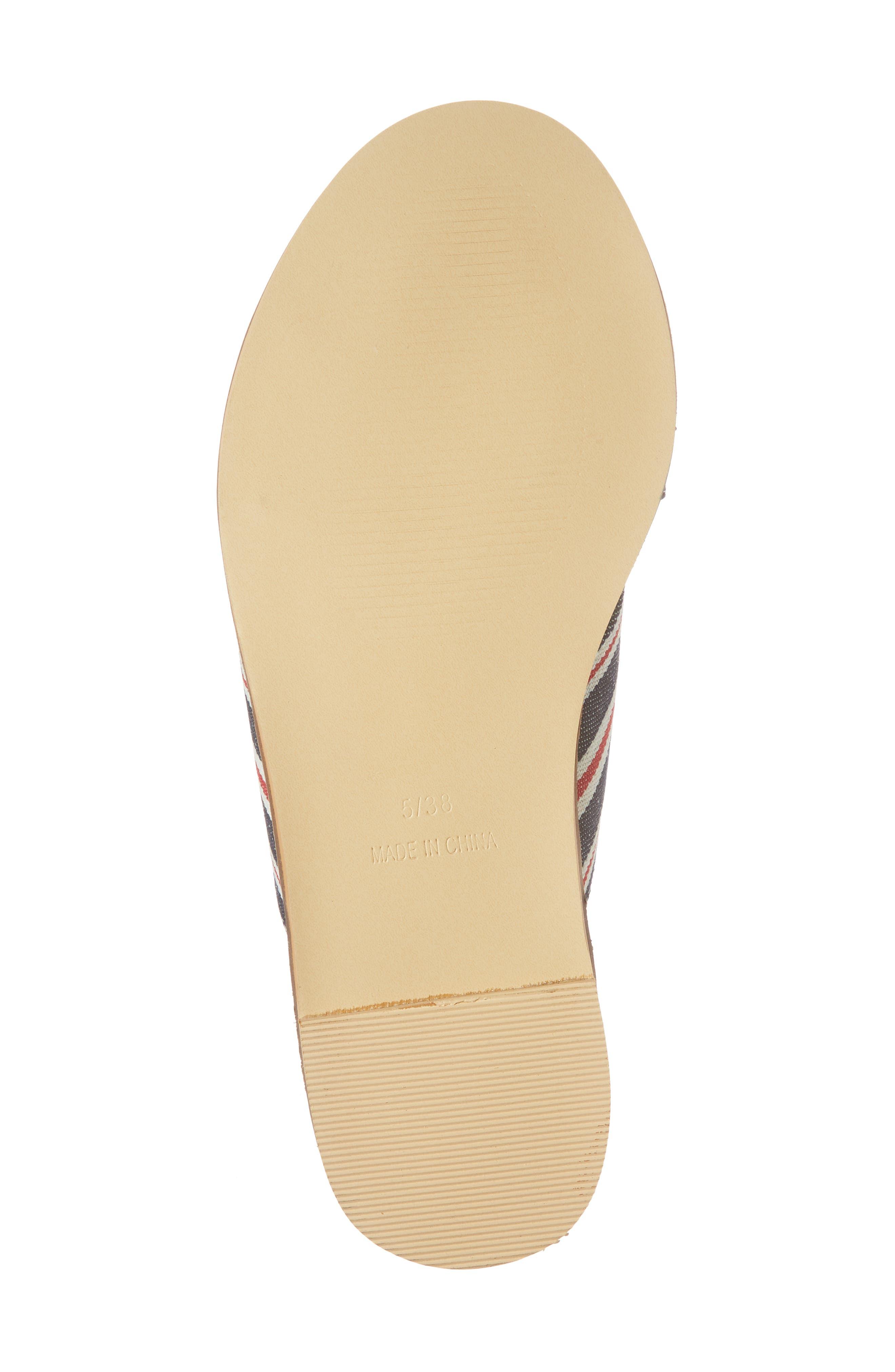 Hibiscus Slide Sandal,                             Alternate thumbnail 6, color,                             Navy Blue Multi