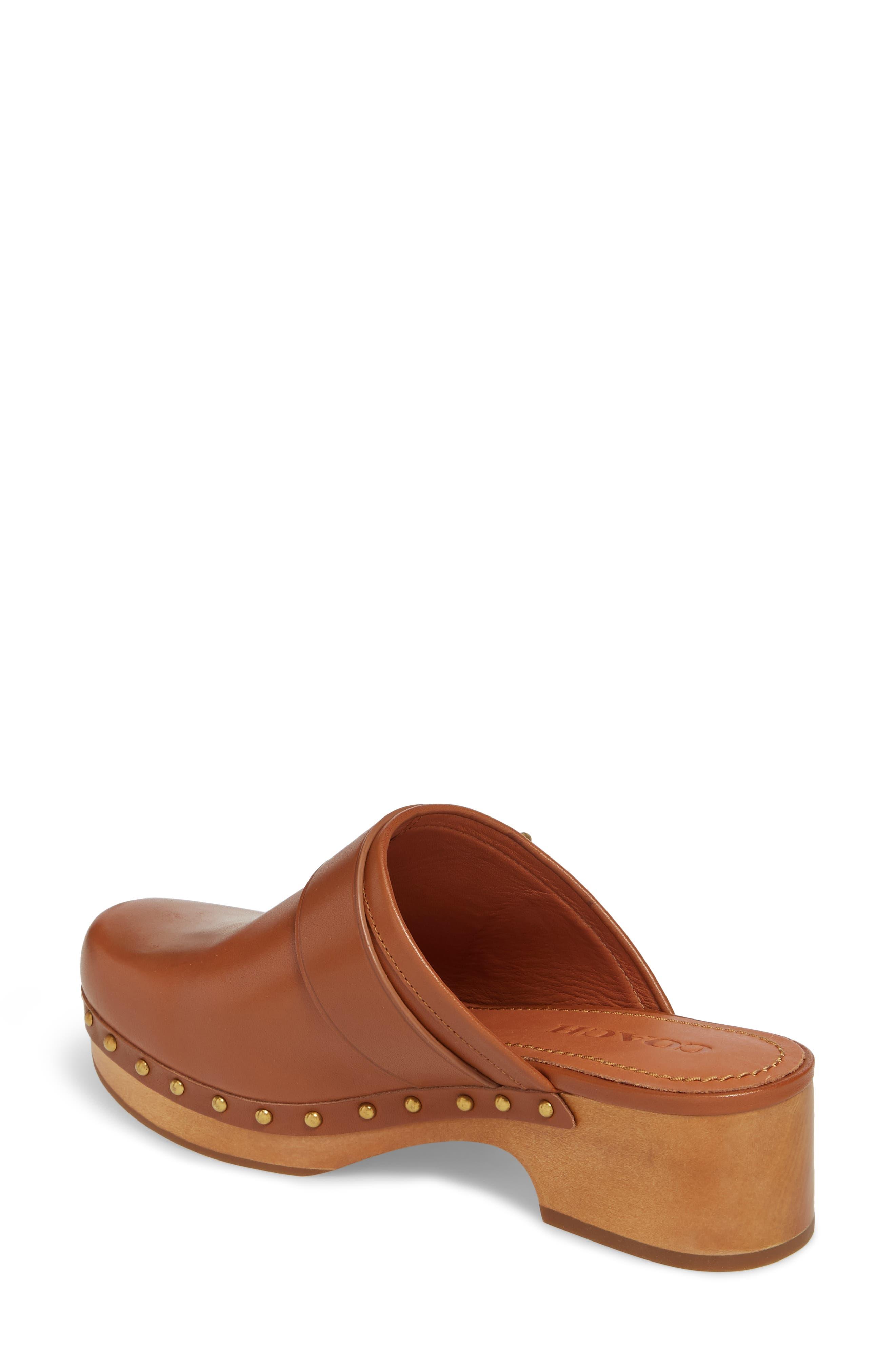 Turnlock Clog,                             Alternate thumbnail 2, color,                             Saddle Leather