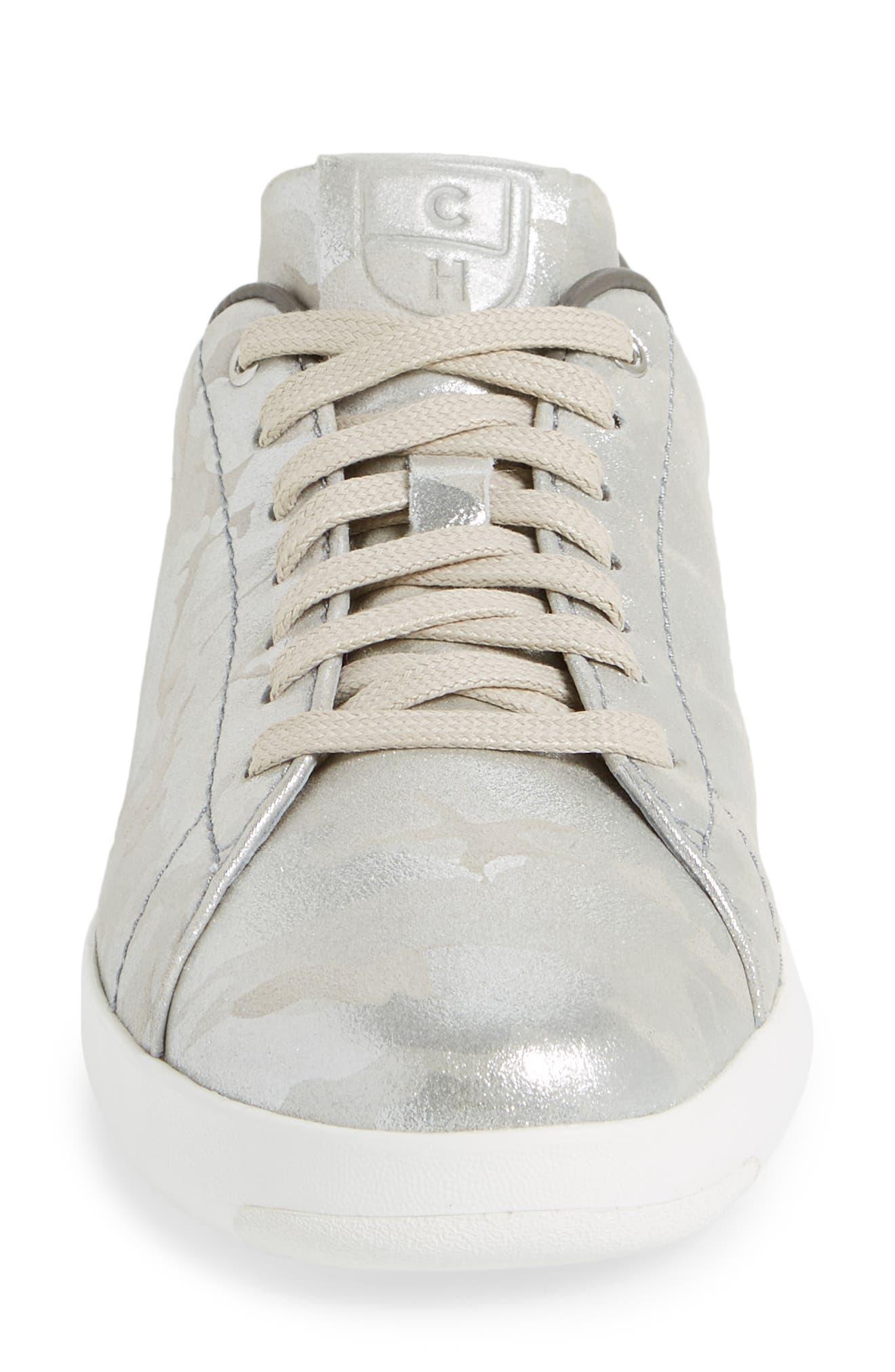 GrandPro Tennis Shoe,                             Alternate thumbnail 4, color,                             Dove Metallic Camo Leather
