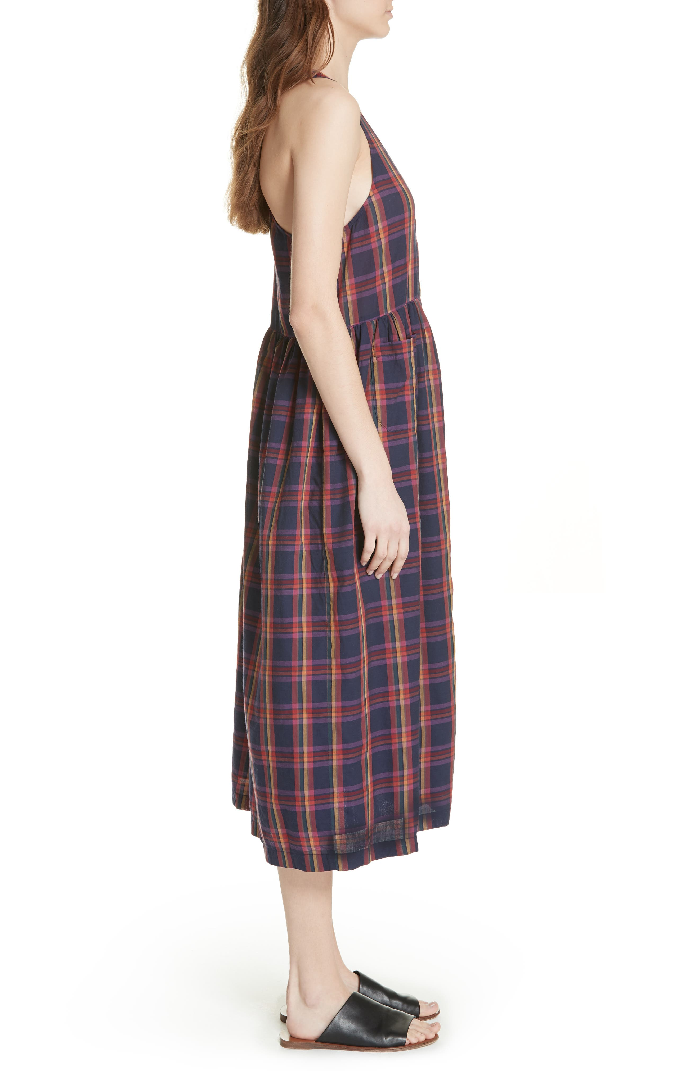 The Harvest Dress,                             Alternate thumbnail 3, color,                             Candy Plaid
