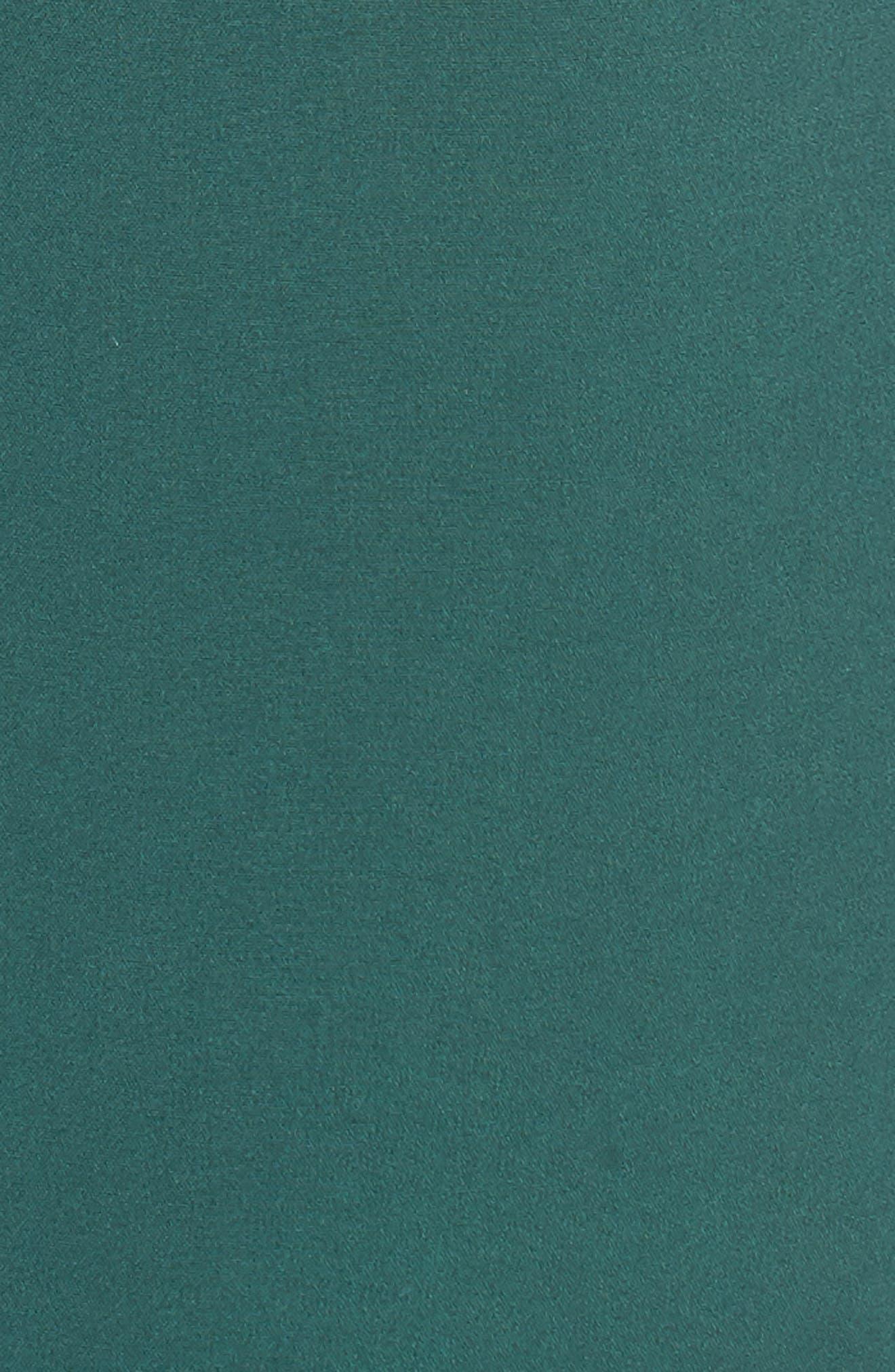 Popover Midi Dress,                             Alternate thumbnail 5, color,                             Emerald