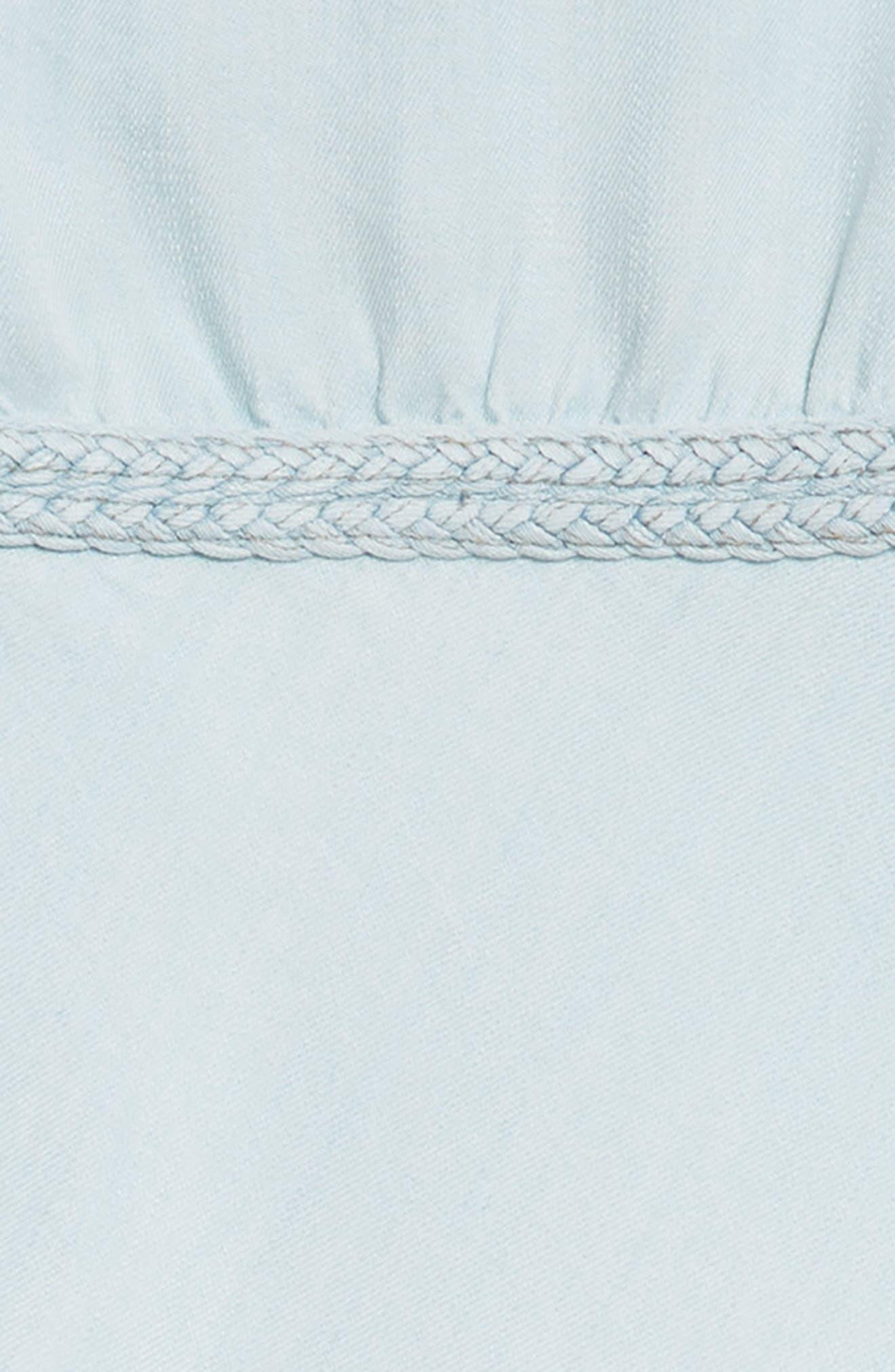 Braided High Neck Dress,                             Alternate thumbnail 3, color,                             Indigo