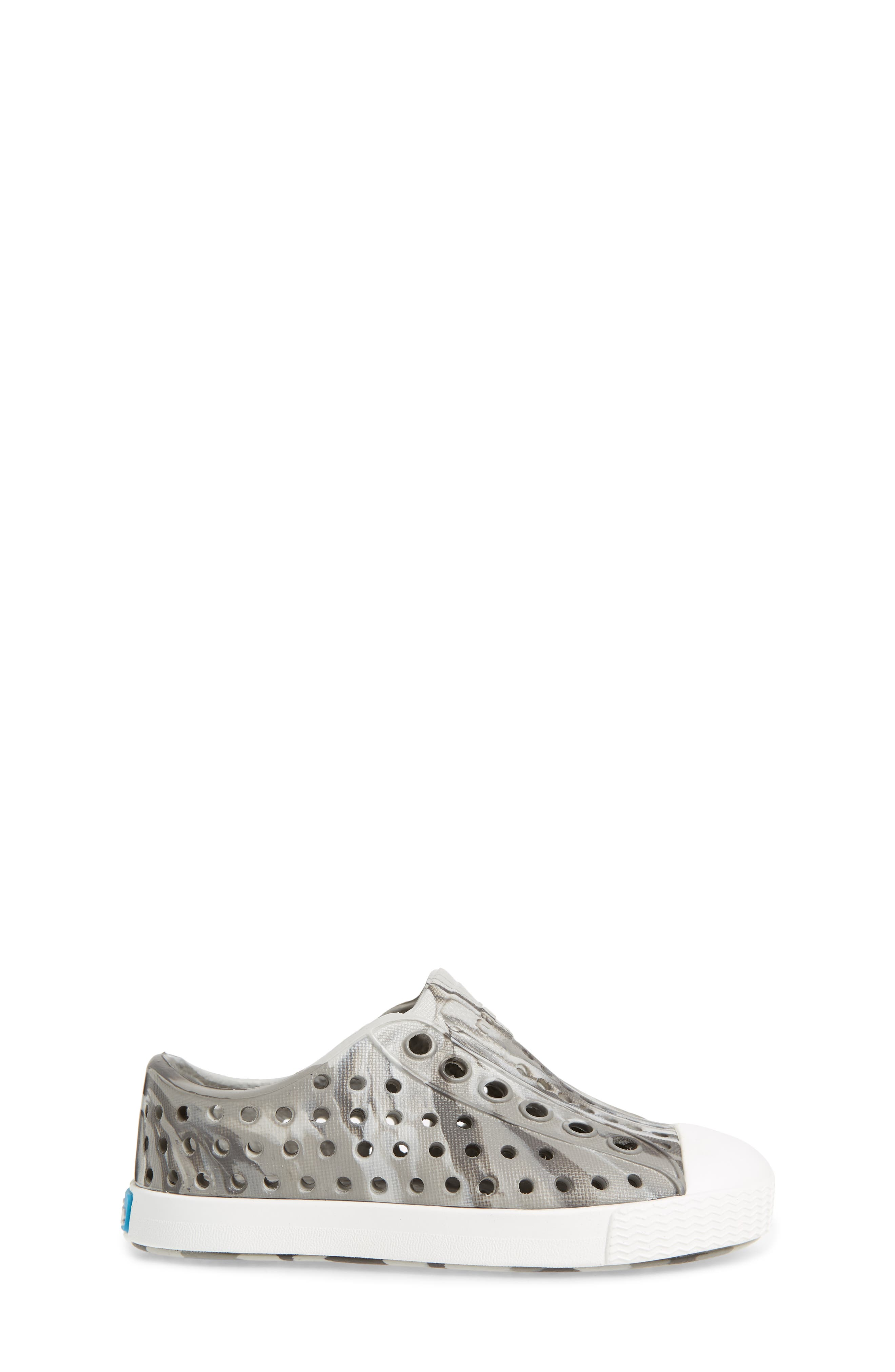 Jefferson - Marbled Perforated Slip-On,                             Alternate thumbnail 3, color,                             Grey/ Shell White/ Marble