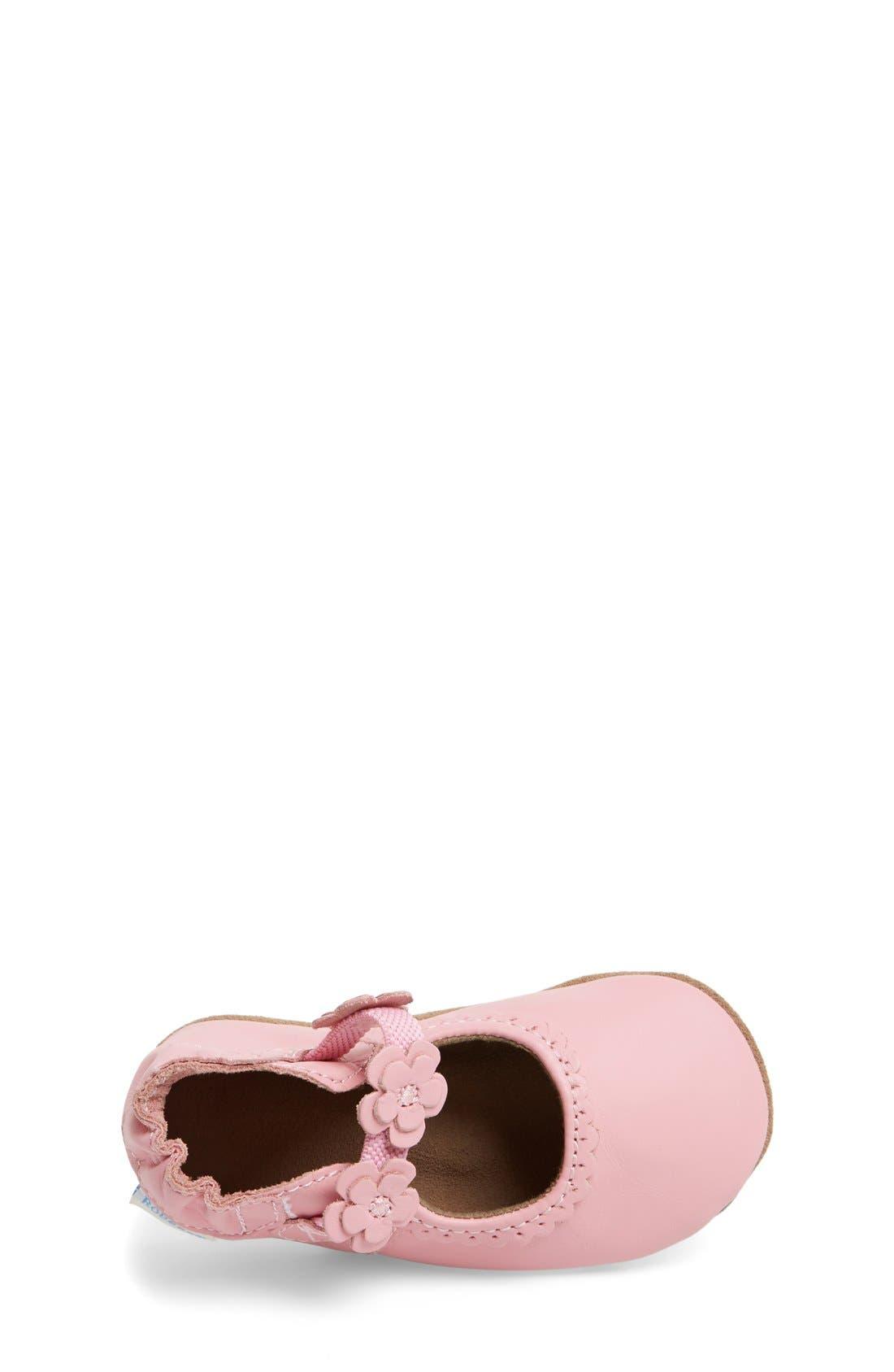 Alternate Image 3  - Robeez® 'Claire' Mary Jane Crib Shoe (Baby & Walker)