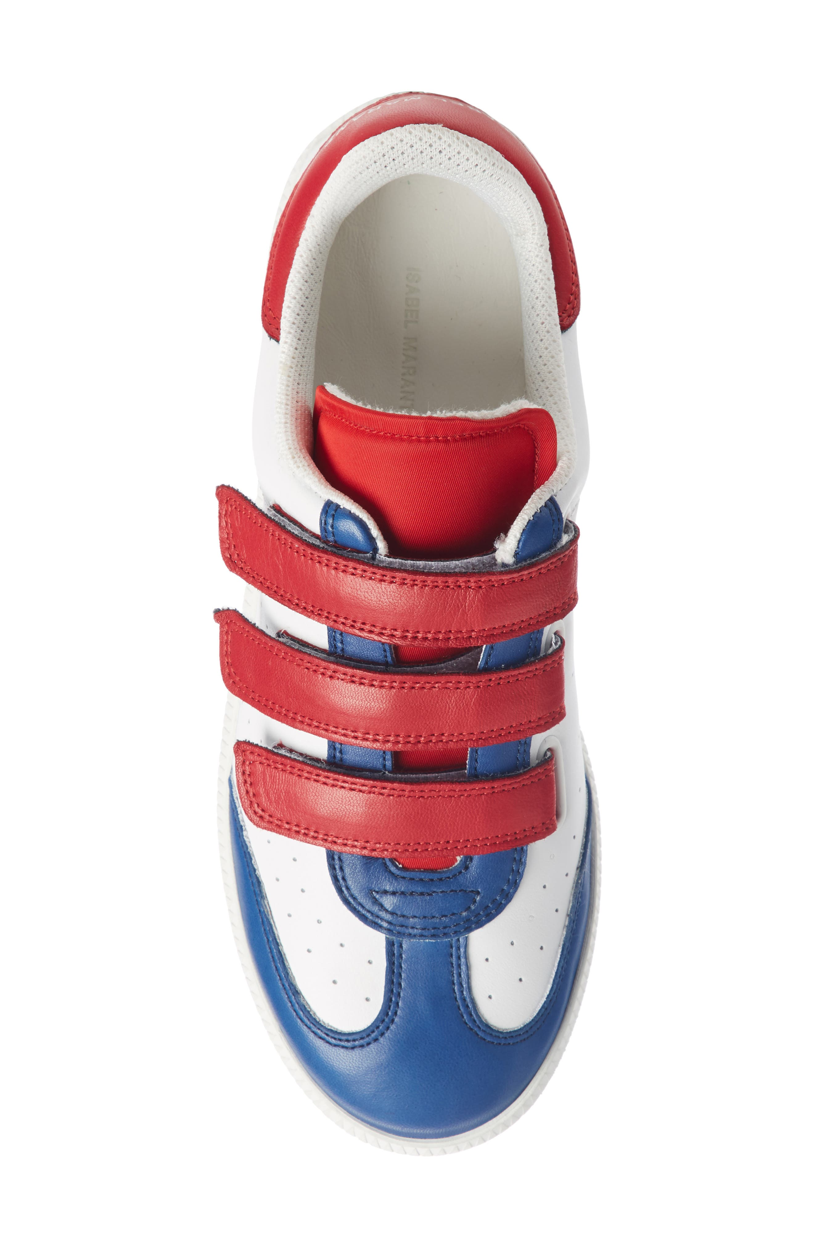 Beth Sneaker,                             Alternate thumbnail 3, color,                             White/ Blue/ Red