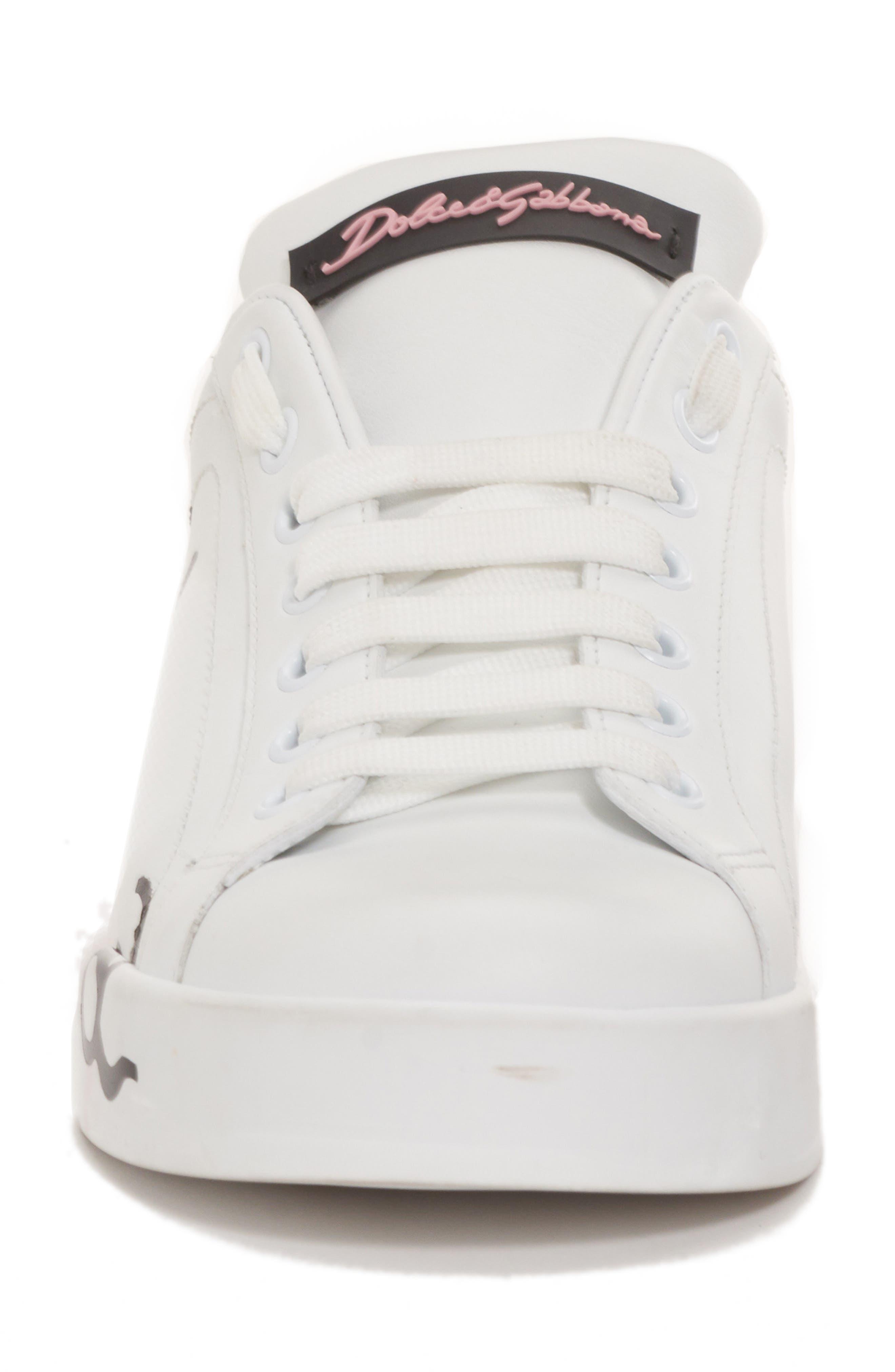 Script Logo Sneaker,                             Alternate thumbnail 4, color,                             Pink/ White