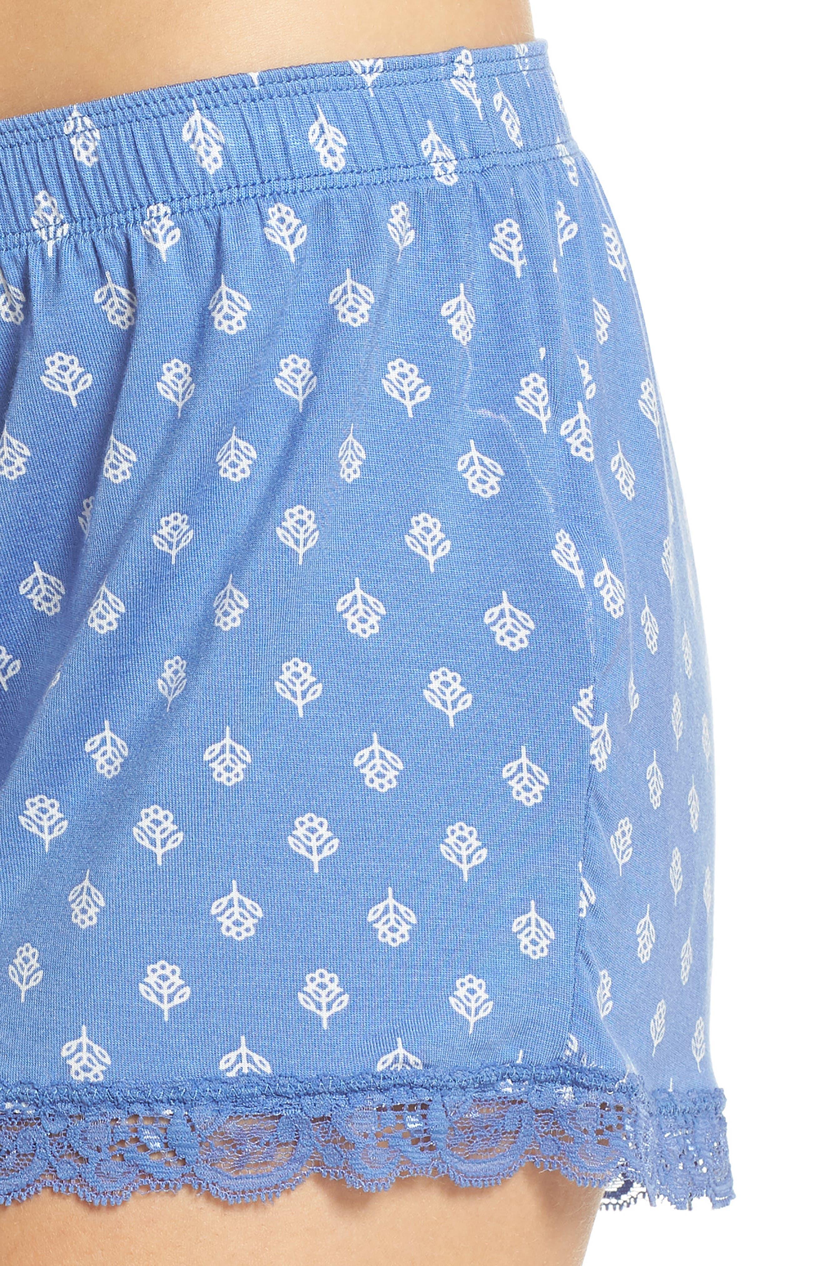 Pajama Shorts,                             Alternate thumbnail 6, color,                             Blue