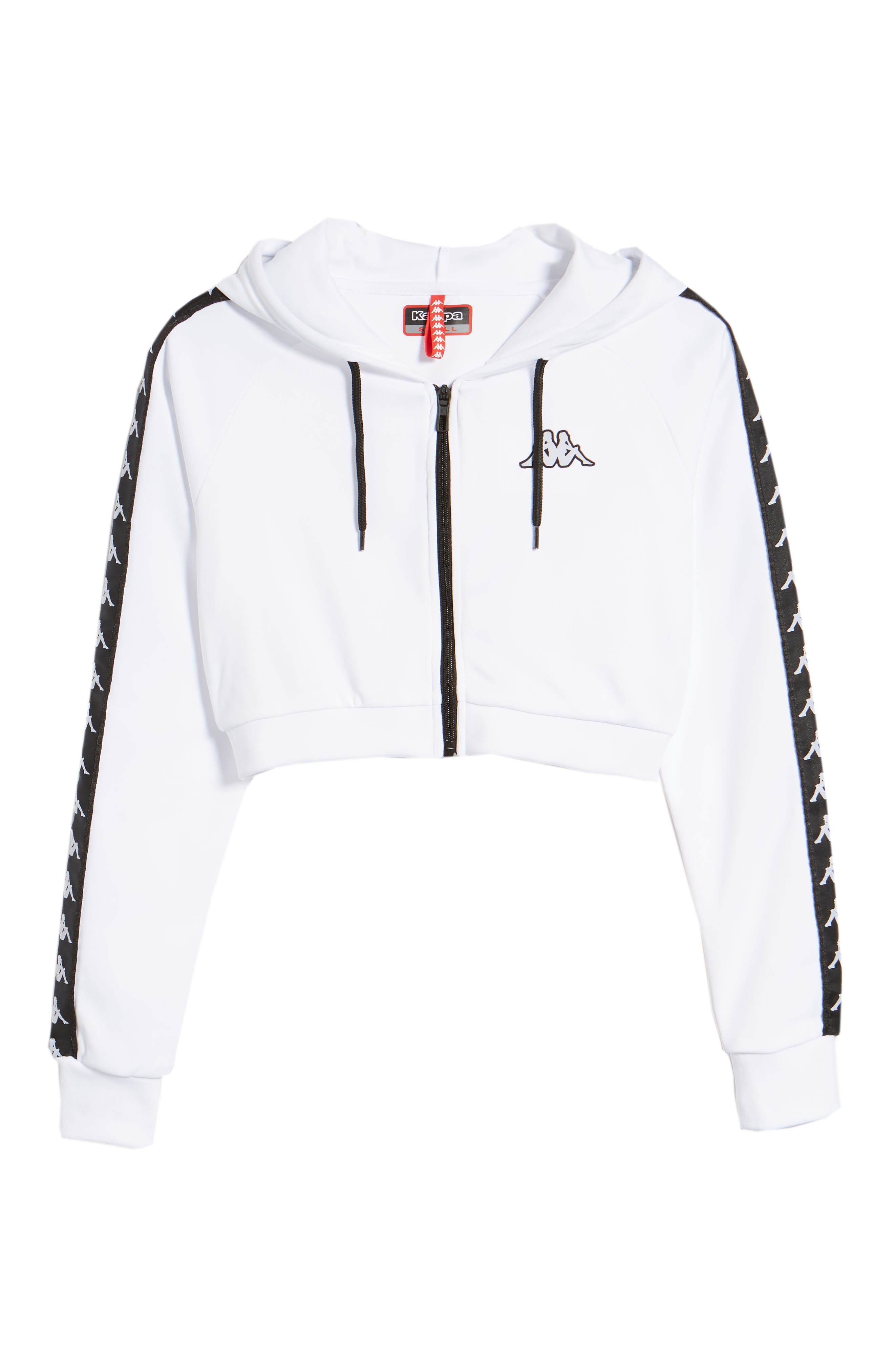 Banda Arakli Crop Jacket,                             Alternate thumbnail 7, color,                             White-Black