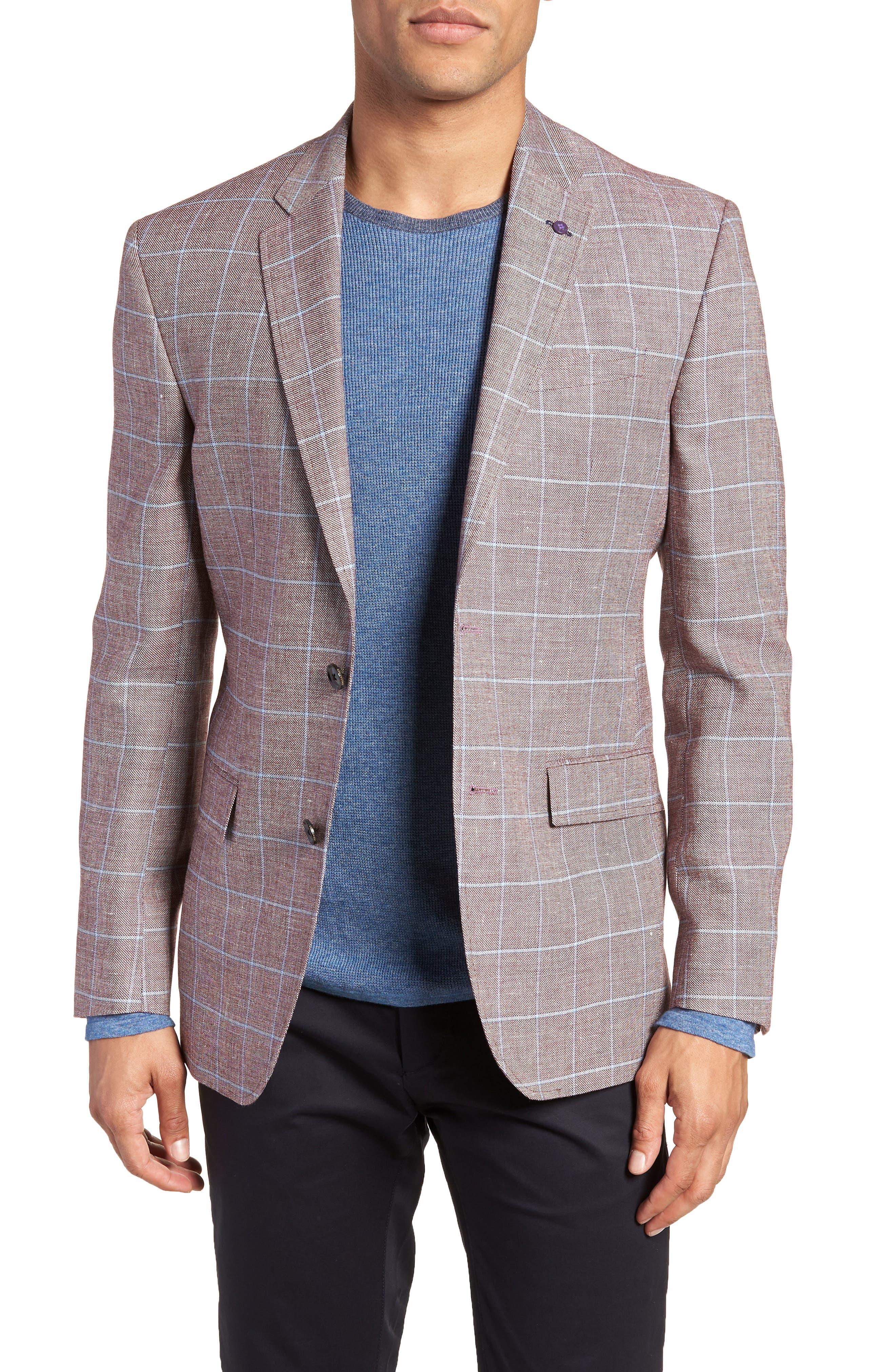 Ted Baker London Jay Trim Fit Tattersall Wool Sport Coat