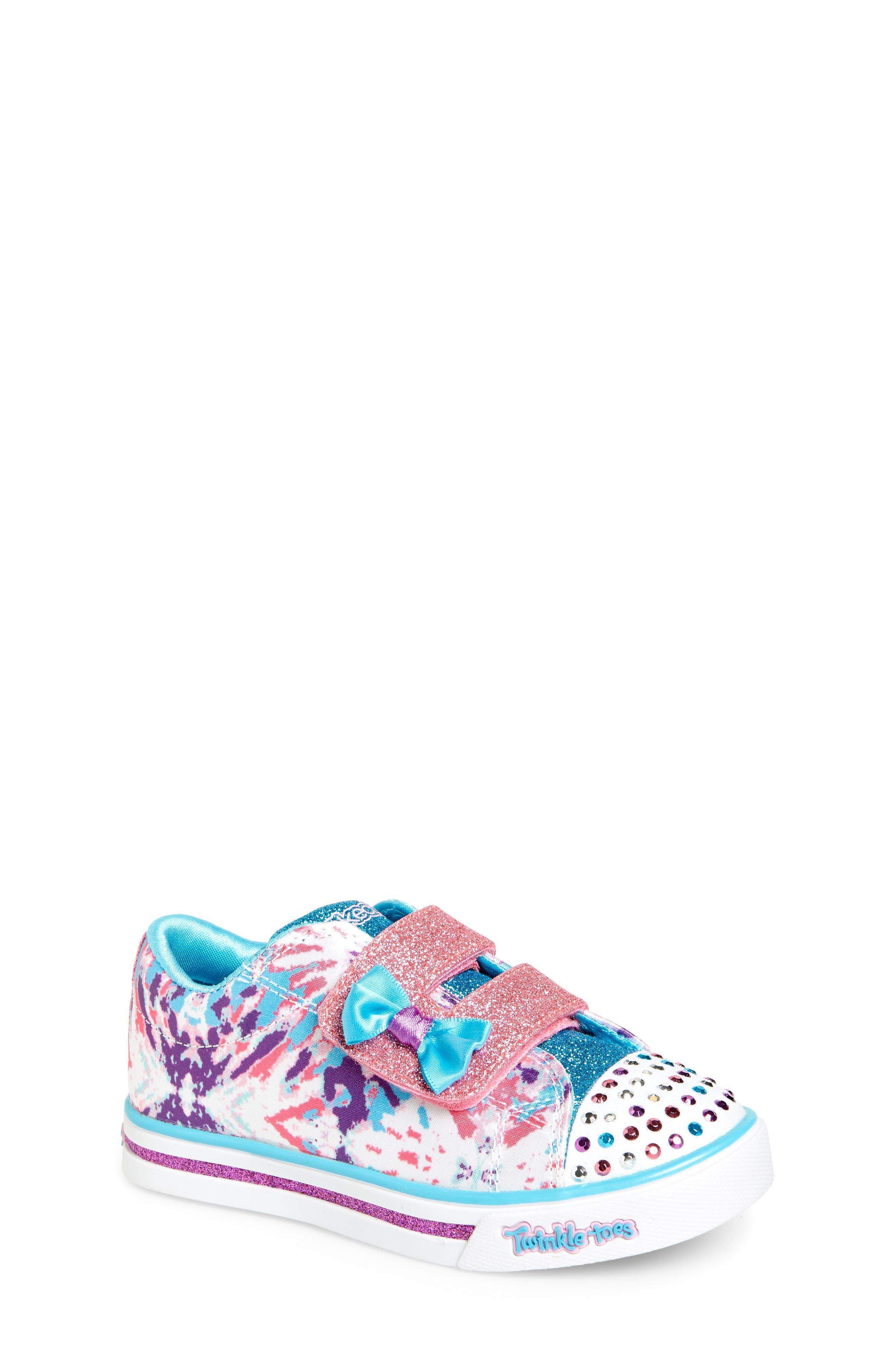 Sparkle Glitz Lil Dazzle Sneaker,                             Main thumbnail 1, color,                             White/ Multi