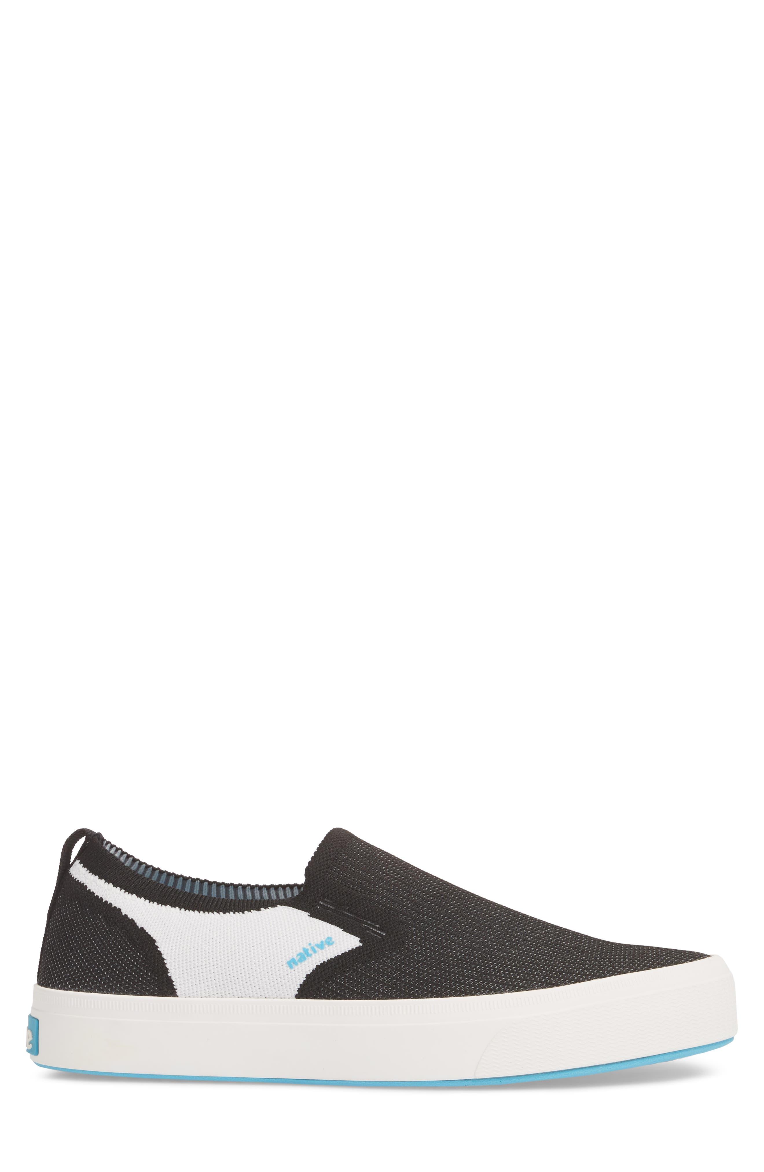 Native Miles LiteKnit Slip-On Sneaker,                             Alternate thumbnail 3, color,                             Jiffy Black/ Shell White