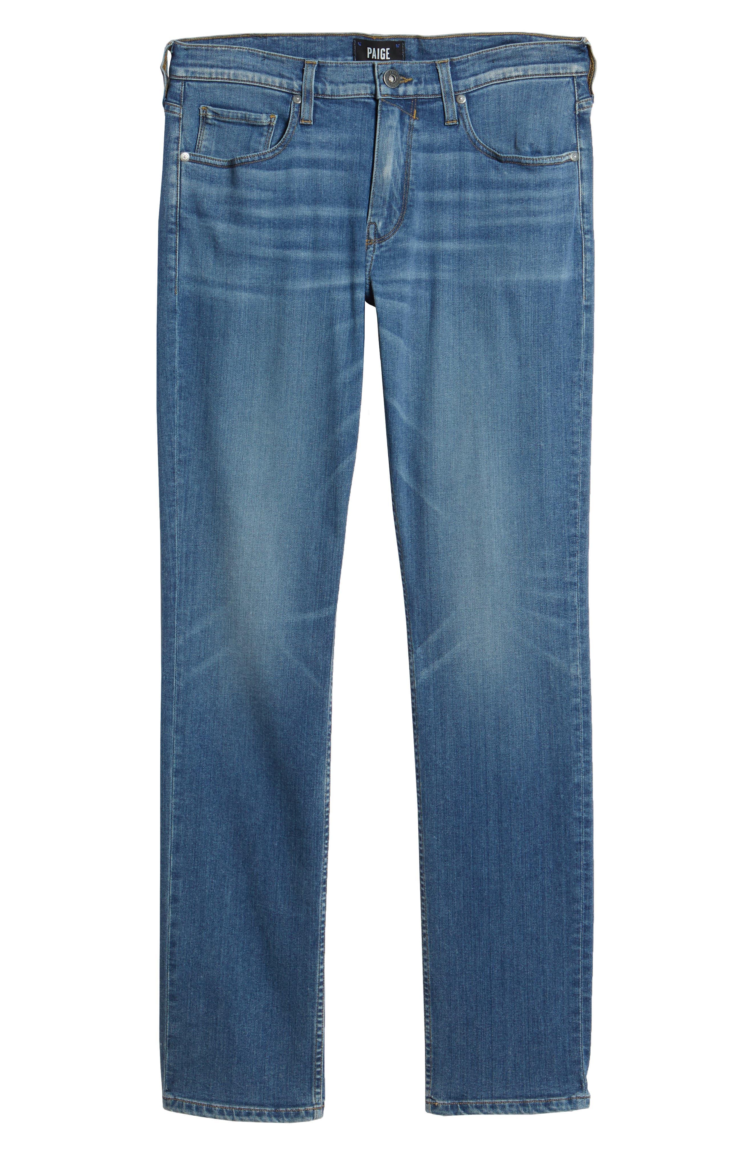 Transcend - Federal Slim Straight Leg Jeans,                             Alternate thumbnail 6, color,                             Caine