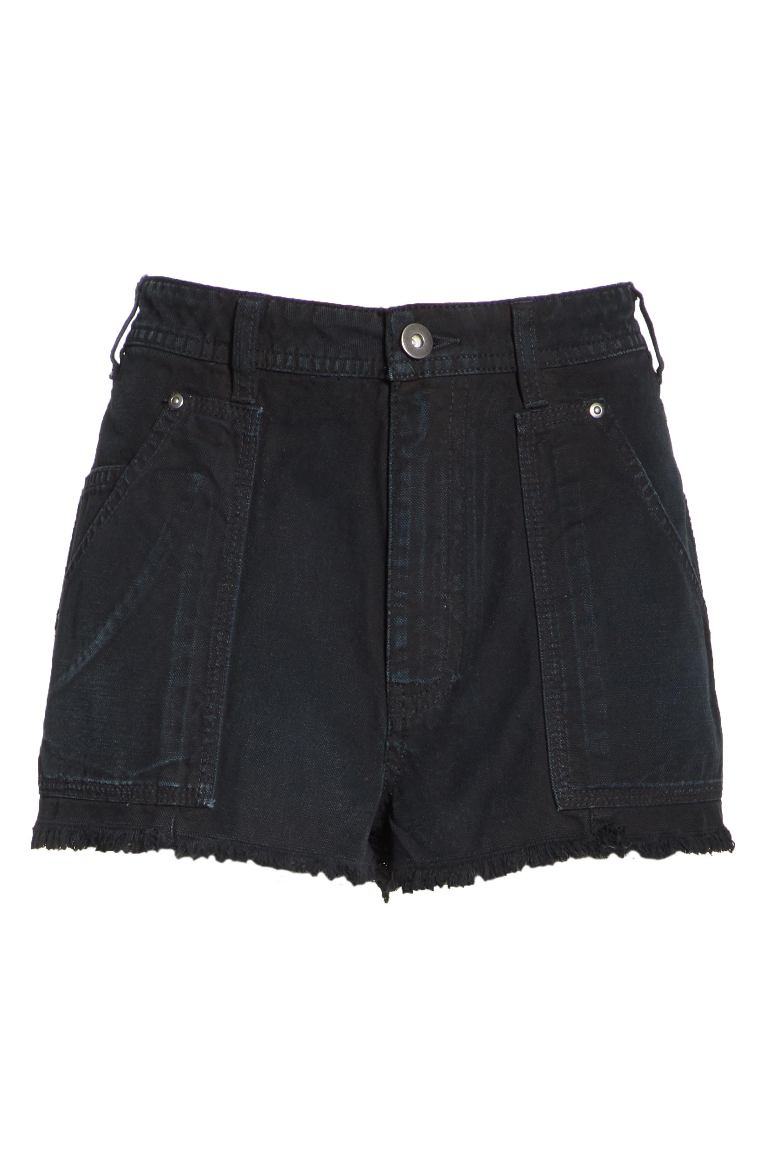 Get Far Out Cutoff Shorts,                             Alternate thumbnail 7, color,                             Black