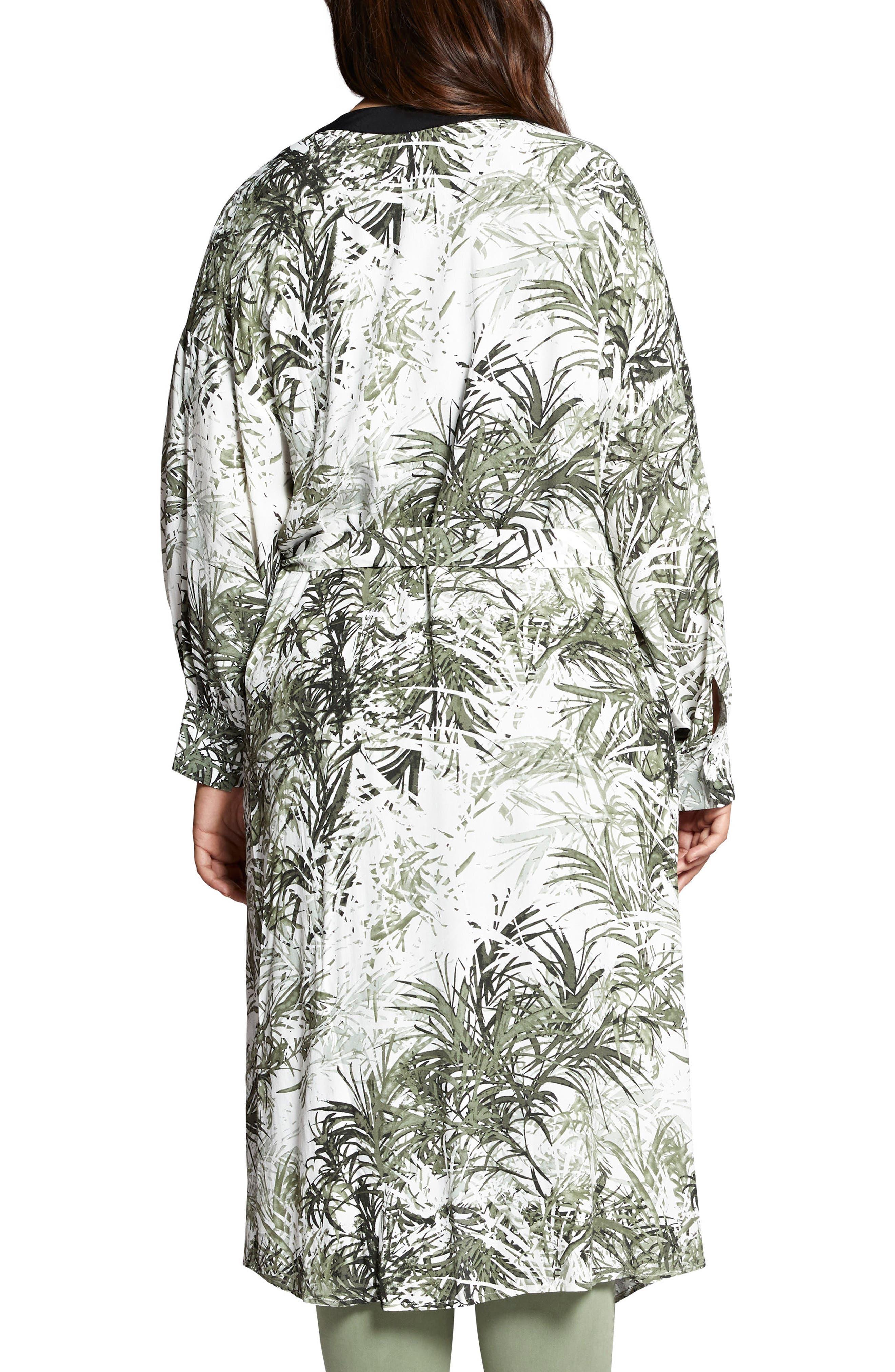Calico Kimono,                             Alternate thumbnail 2, color,                             Tiki Palm