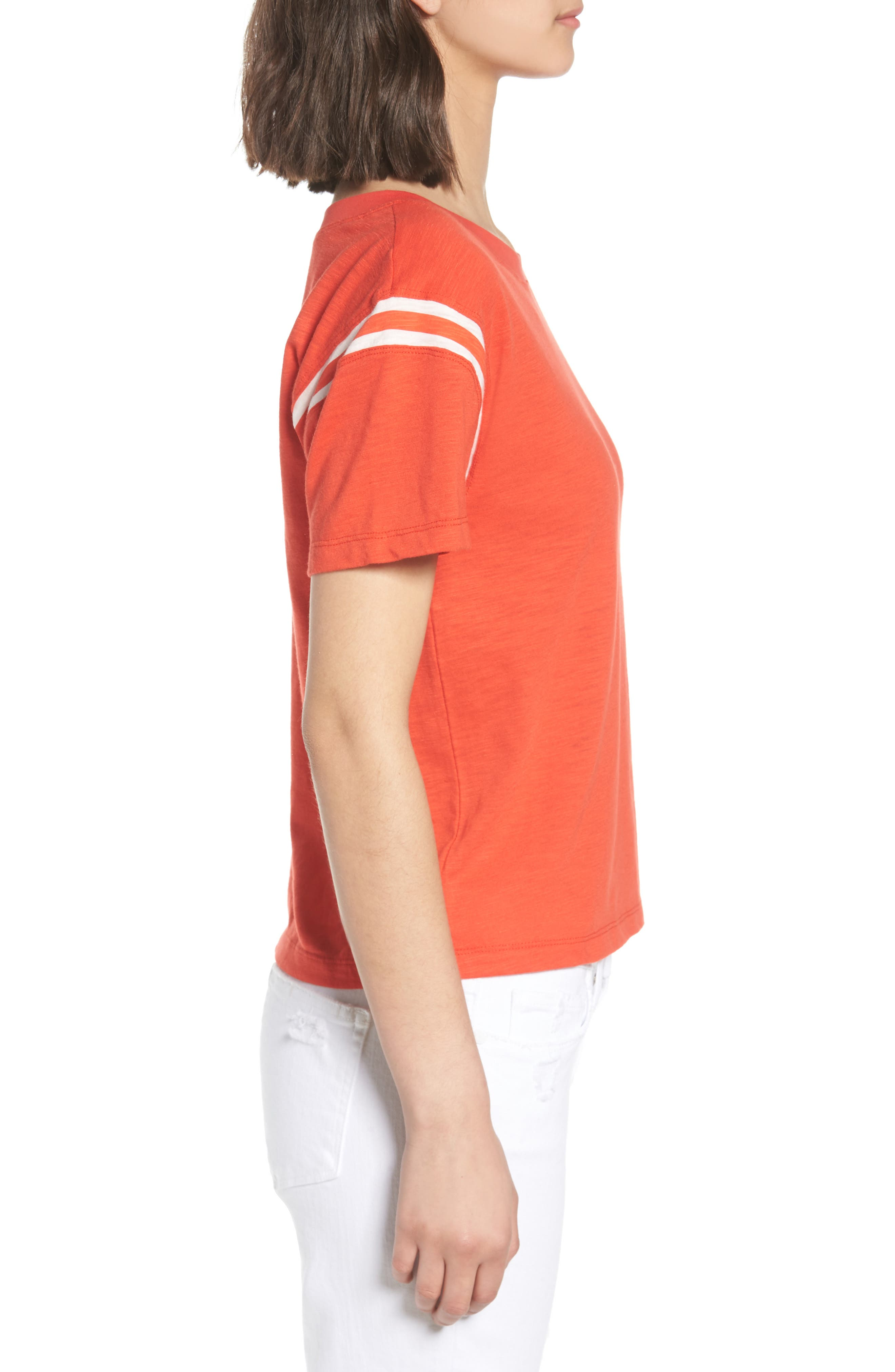 Football Tee,                             Alternate thumbnail 3, color,                             Candy Red