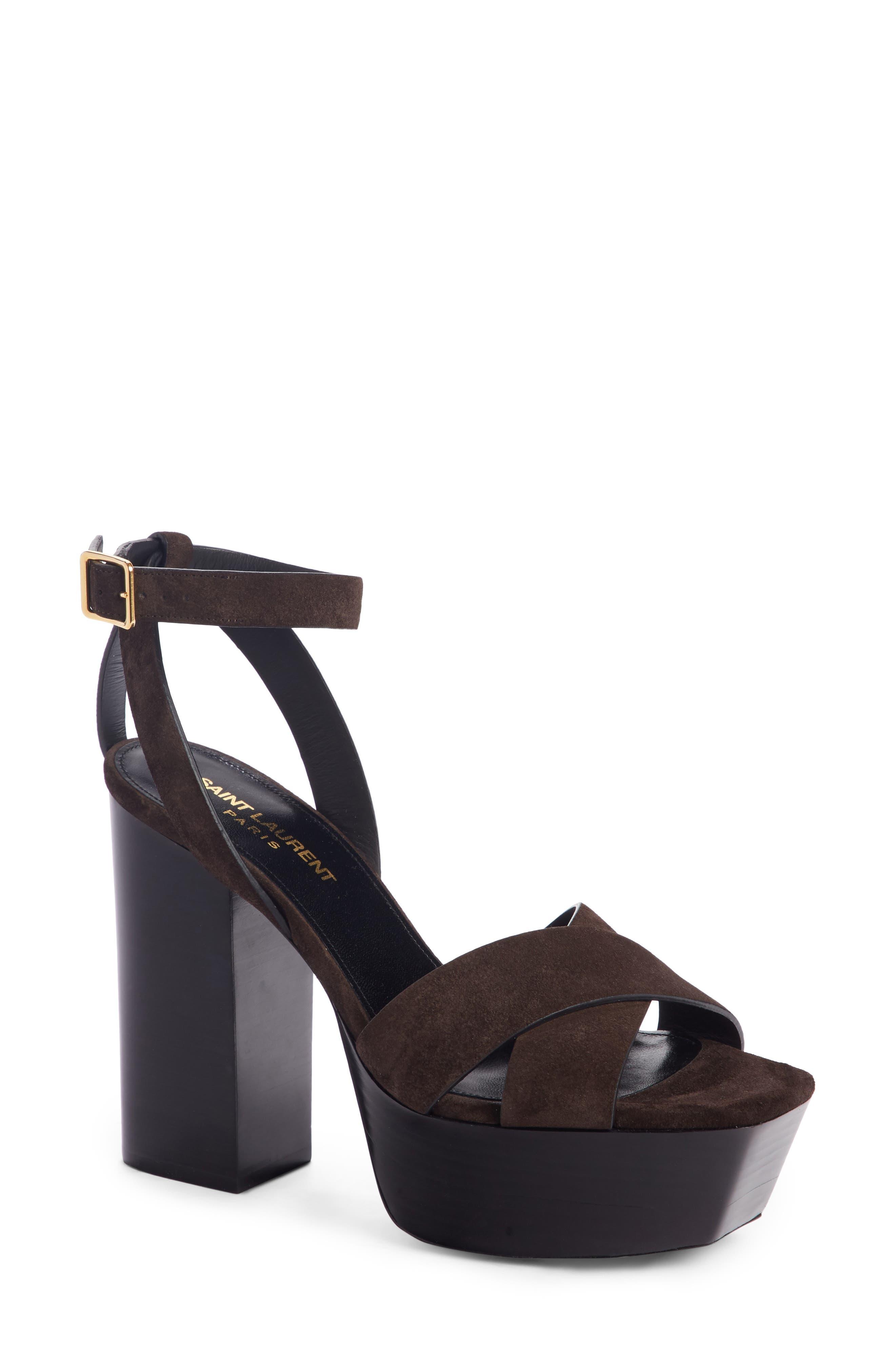 Saint Laurent Farrah Platform Sandal (Women)