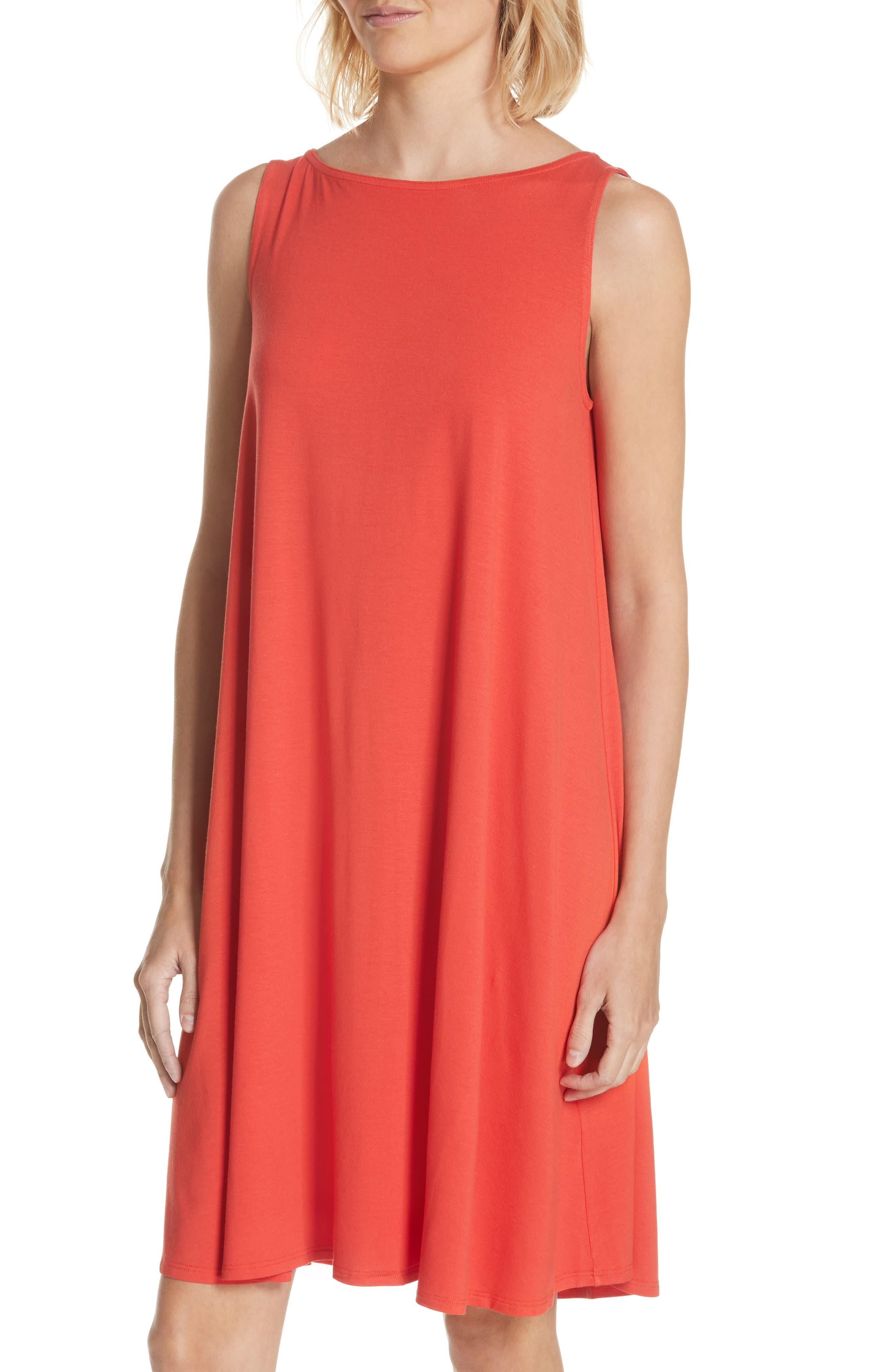 Alternate Image 4  - Eileen Fisher Lightweight Jersey Shift Dress (Regular & Petite) (Nordstrom Exclusive)