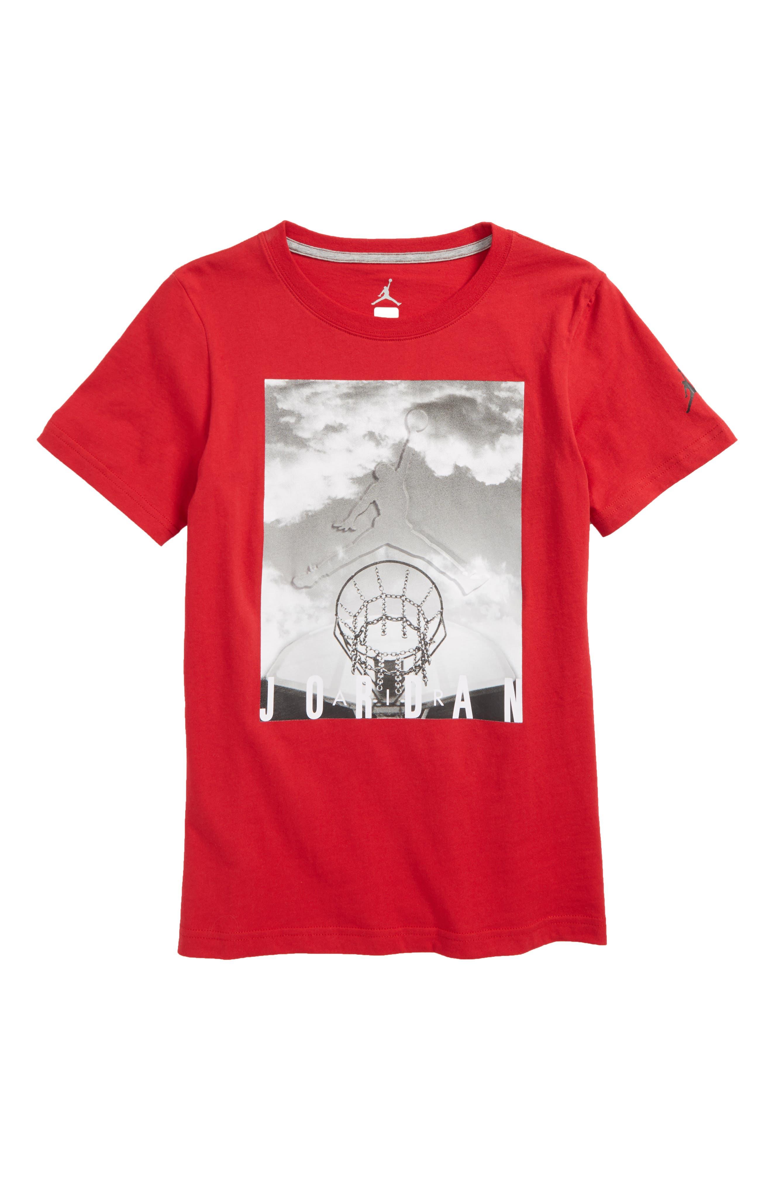 Jordan Hard Court Graphic T-Shirt,                             Main thumbnail 1, color,                             Gym Red