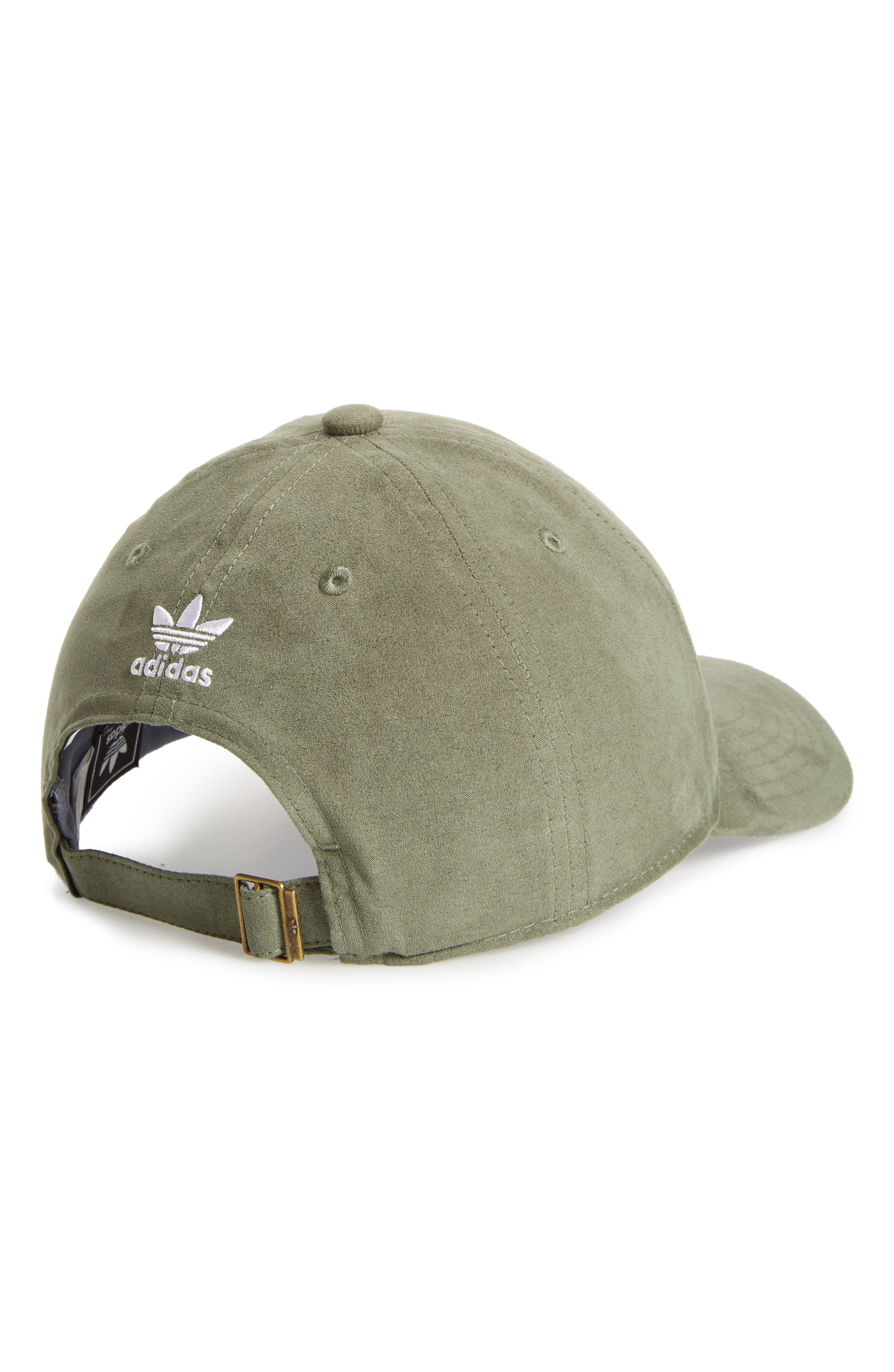 Originals Relaxed Strap-Back Cap,                             Alternate thumbnail 2, color,                             Base Green Suede