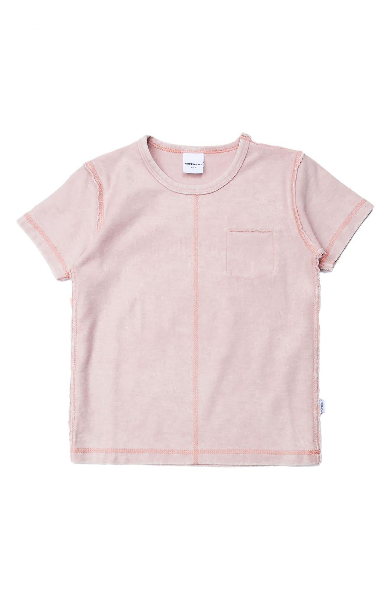 Emery Pocket T-Shirt,                         Main,                         color, Pink