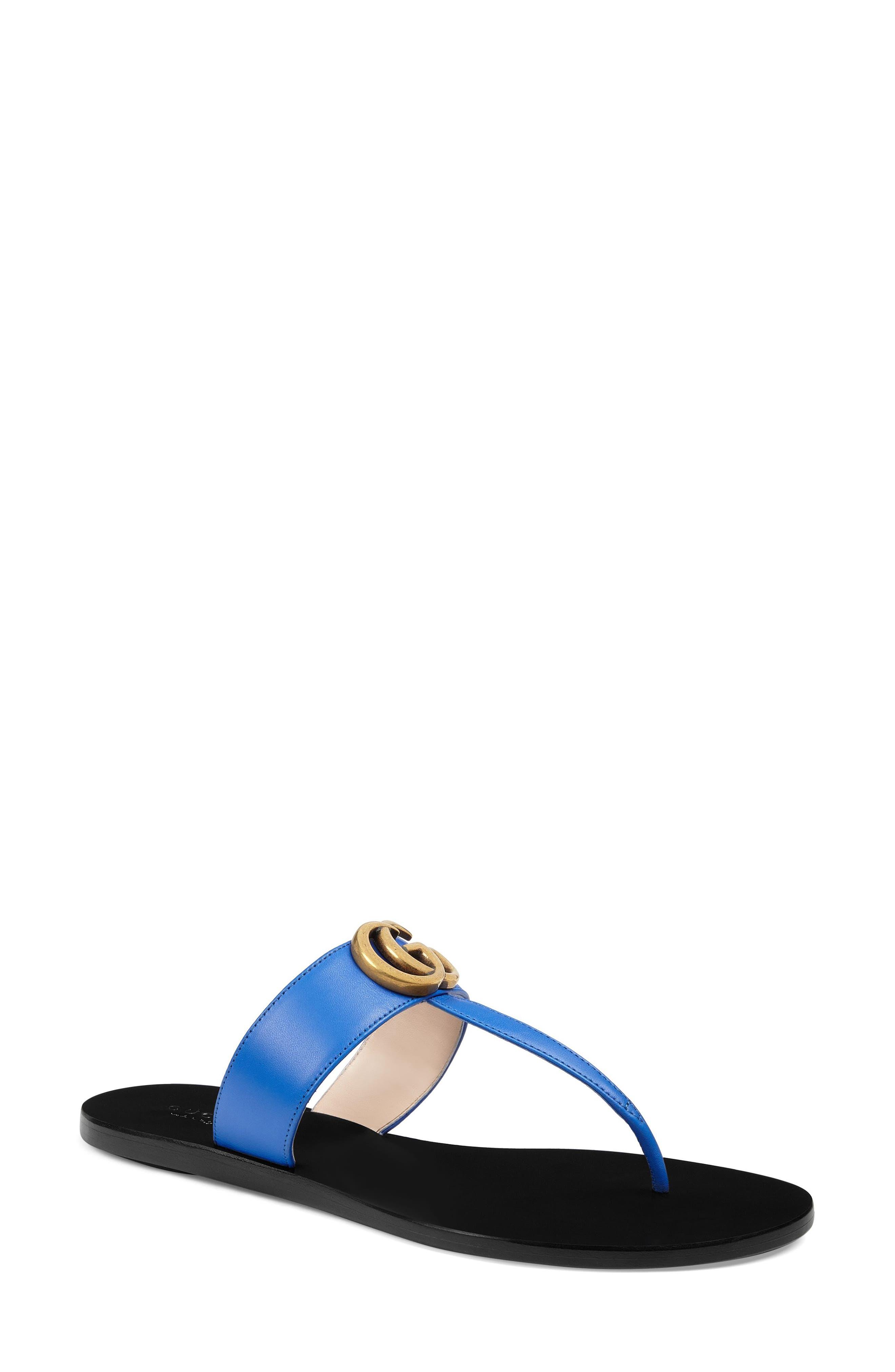 T-Strap Sandal,                             Main thumbnail 1, color,                             Electric Blue