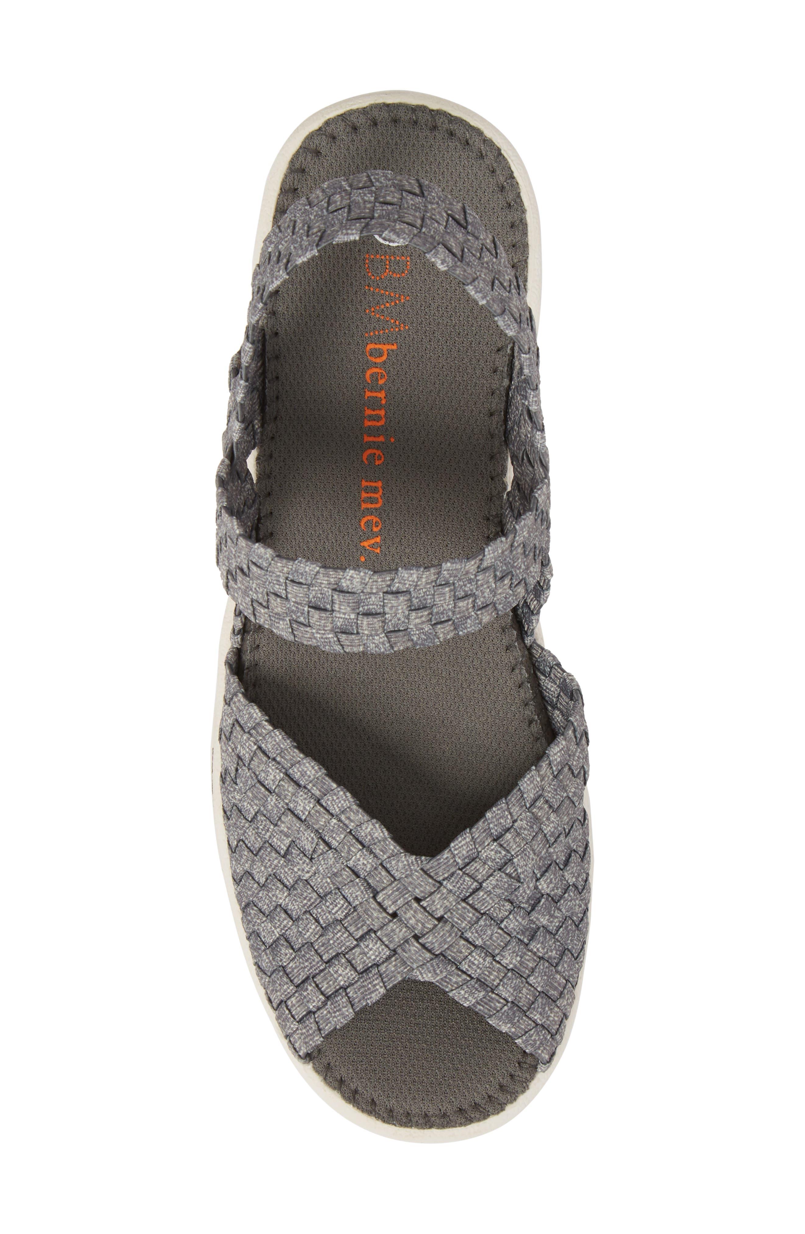 Lux Garden Sandal,                             Alternate thumbnail 5, color,                             Heather Grey Fabric