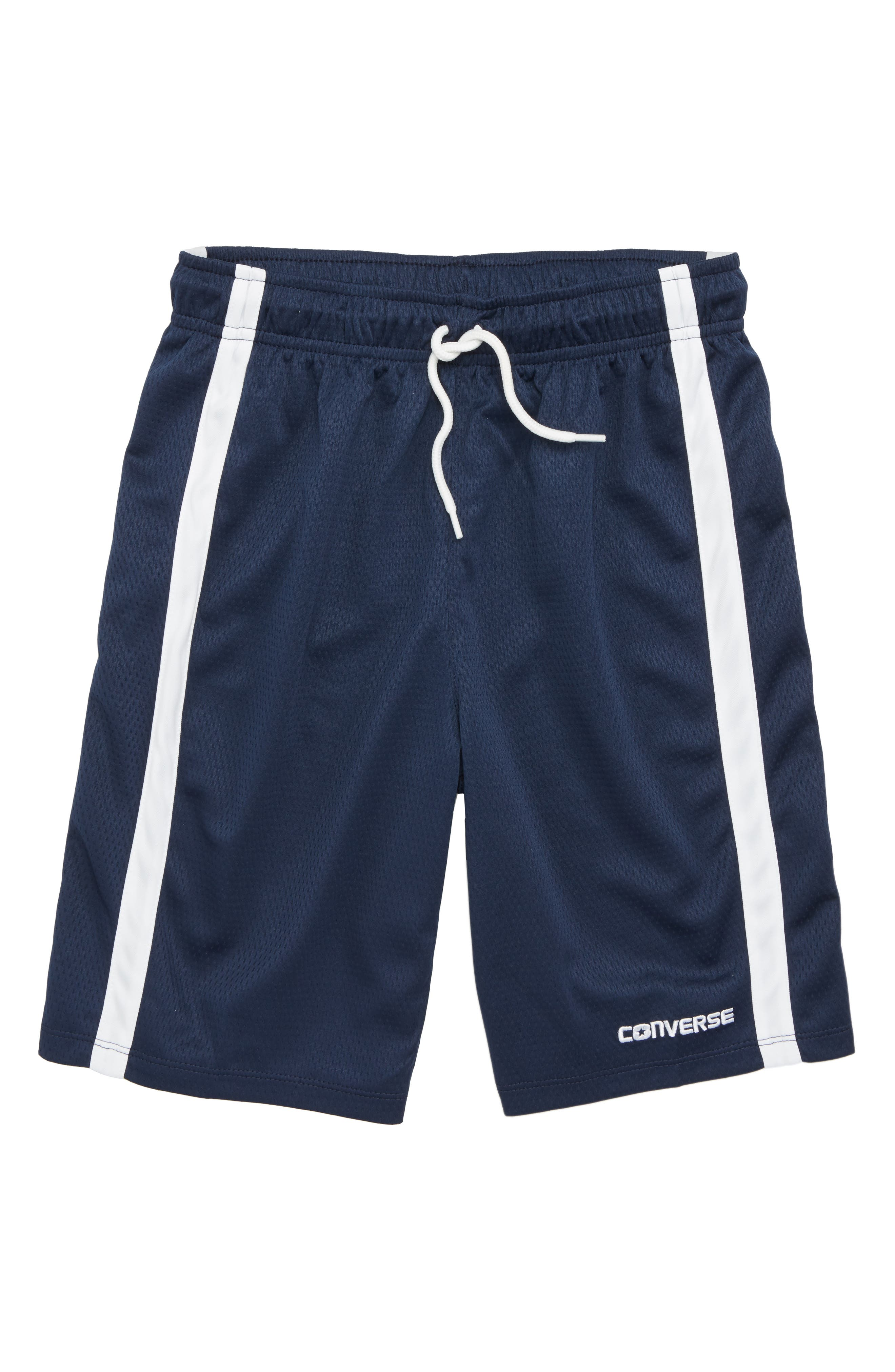 Converse Stripe Mesh Shorts (Big Boys)