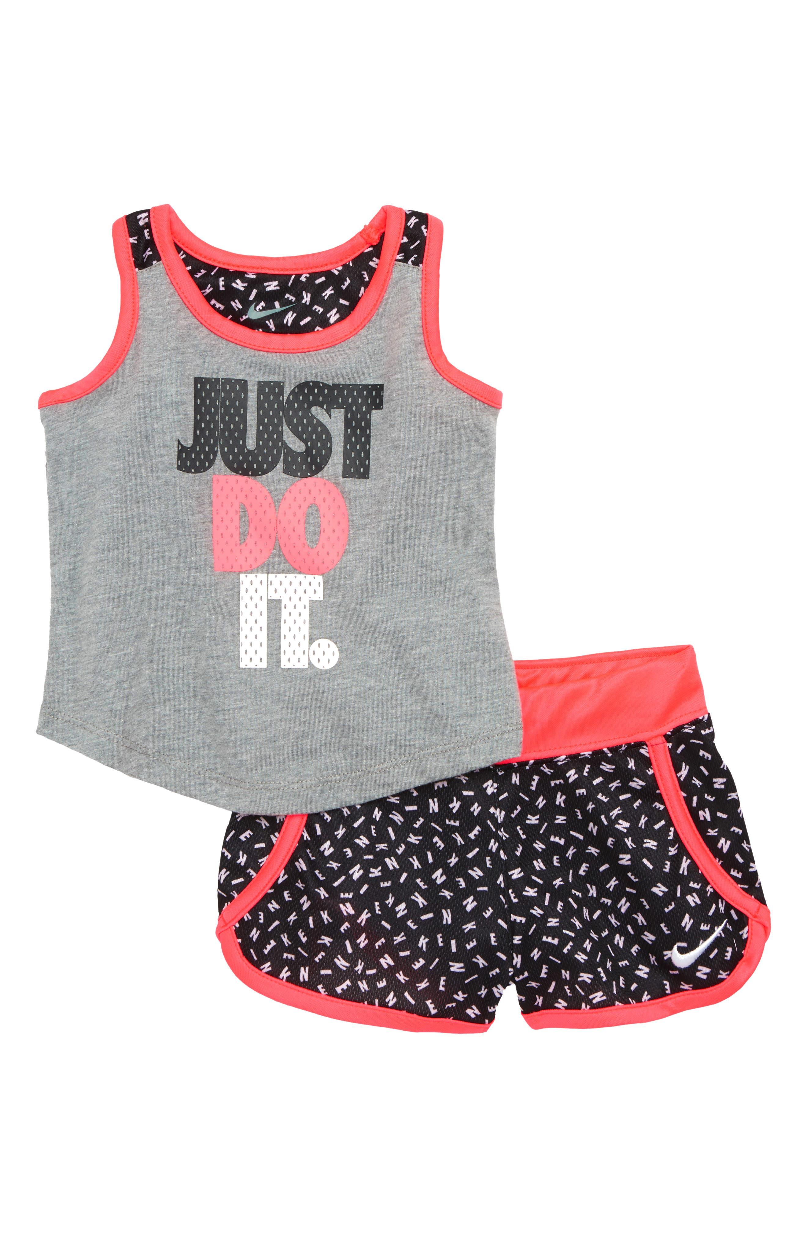 Nike Just Dot It Tank & Shorts Set (Baby Girls)