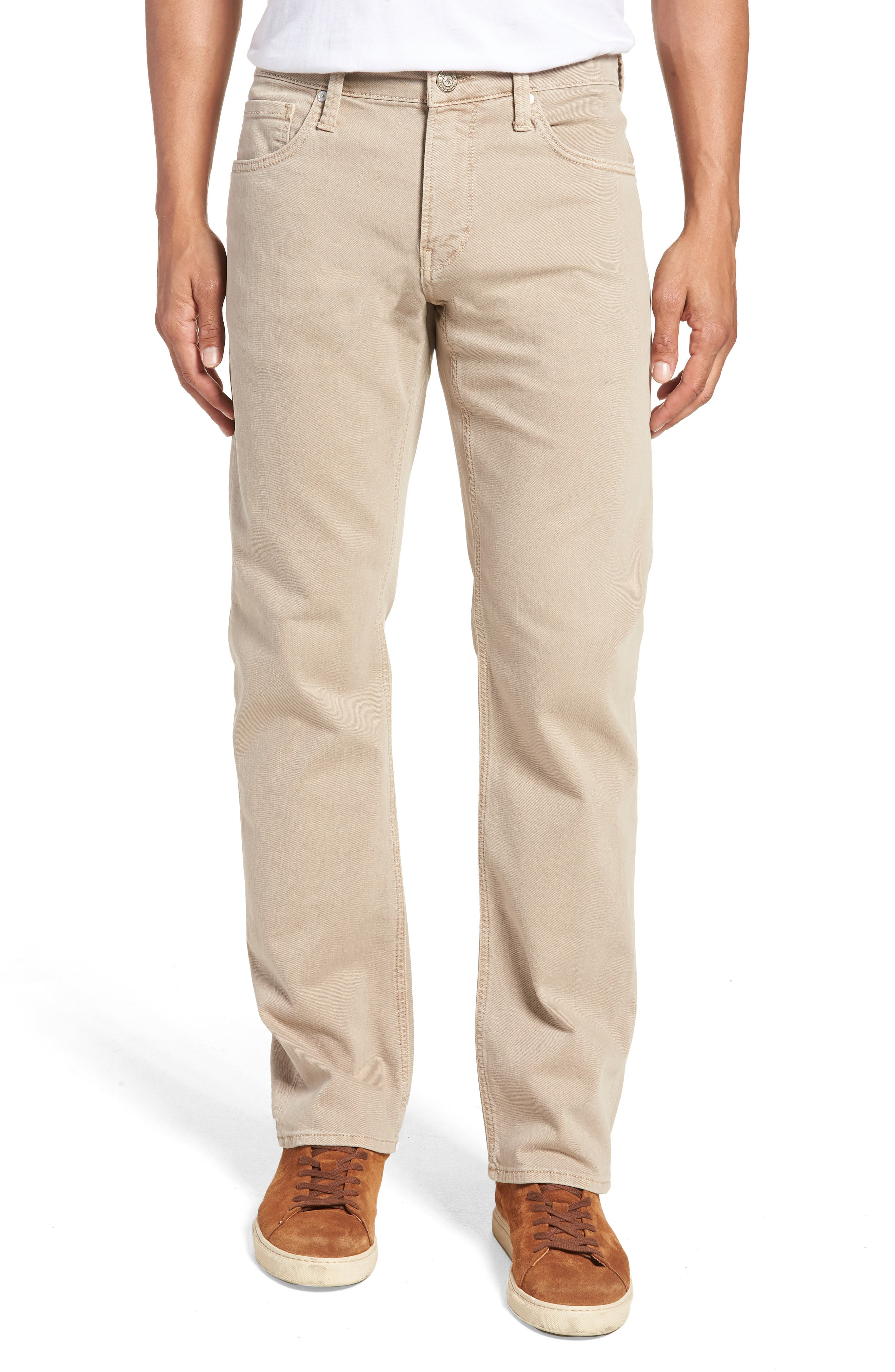 Zach Straight Leg Twill Pants,                         Main,                         color, Tan Washed