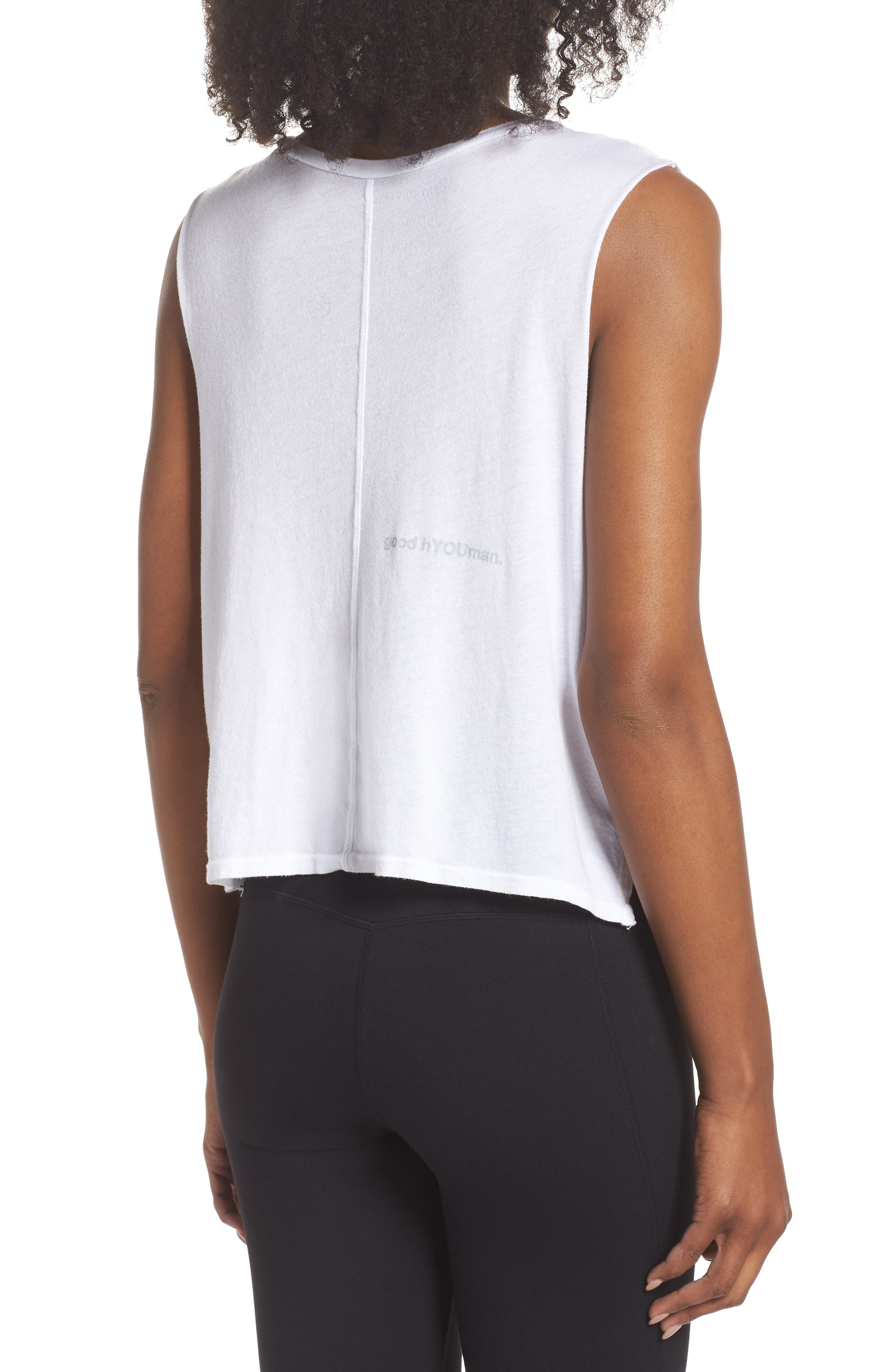 Lili Best Day Ever Crop Tank,                             Alternate thumbnail 2, color,                             Optic White